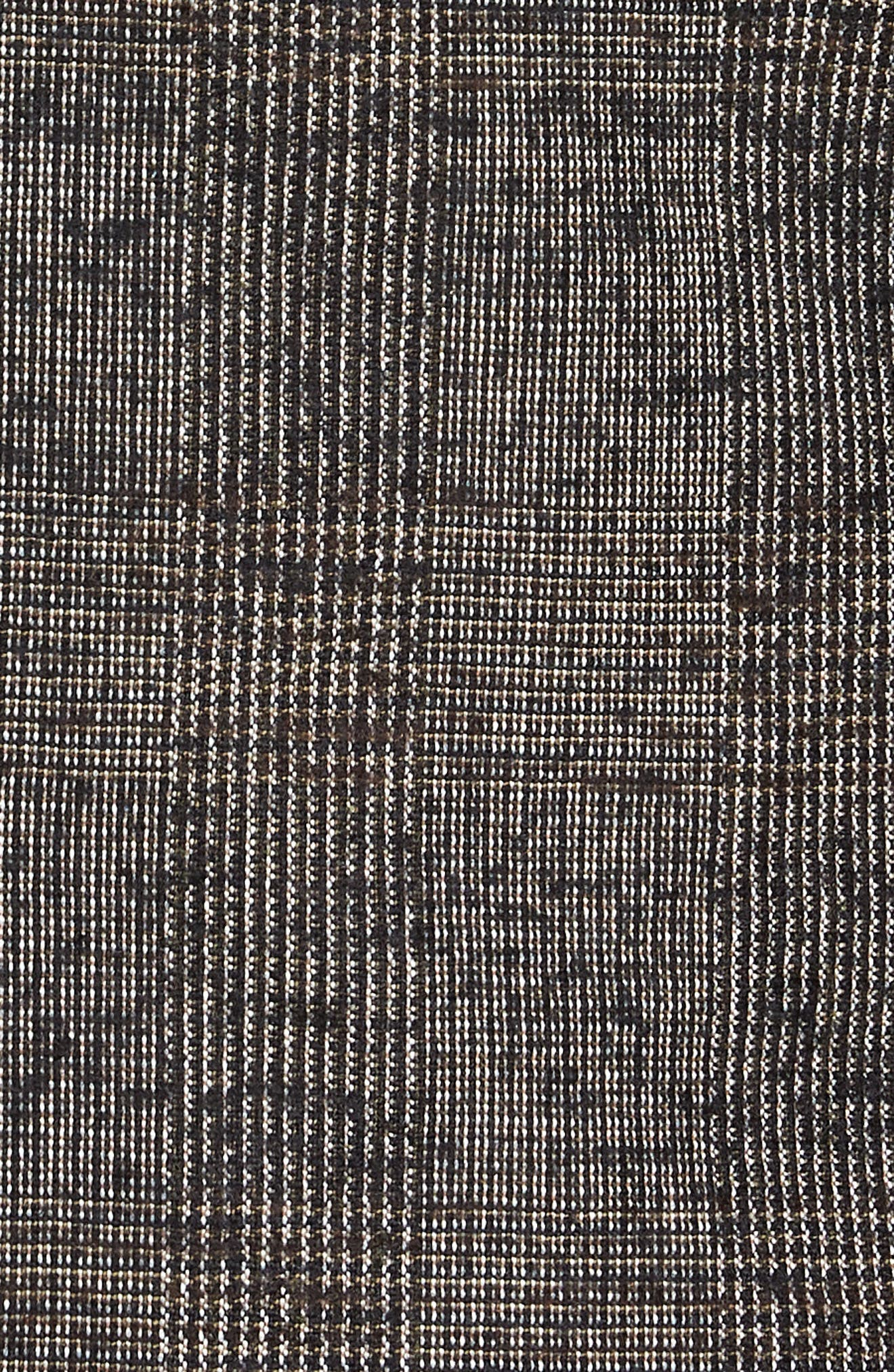 Nanon Trim Fit Plaid Wool Blend Sport Coat,                             Alternate thumbnail 6, color,                             BLACK