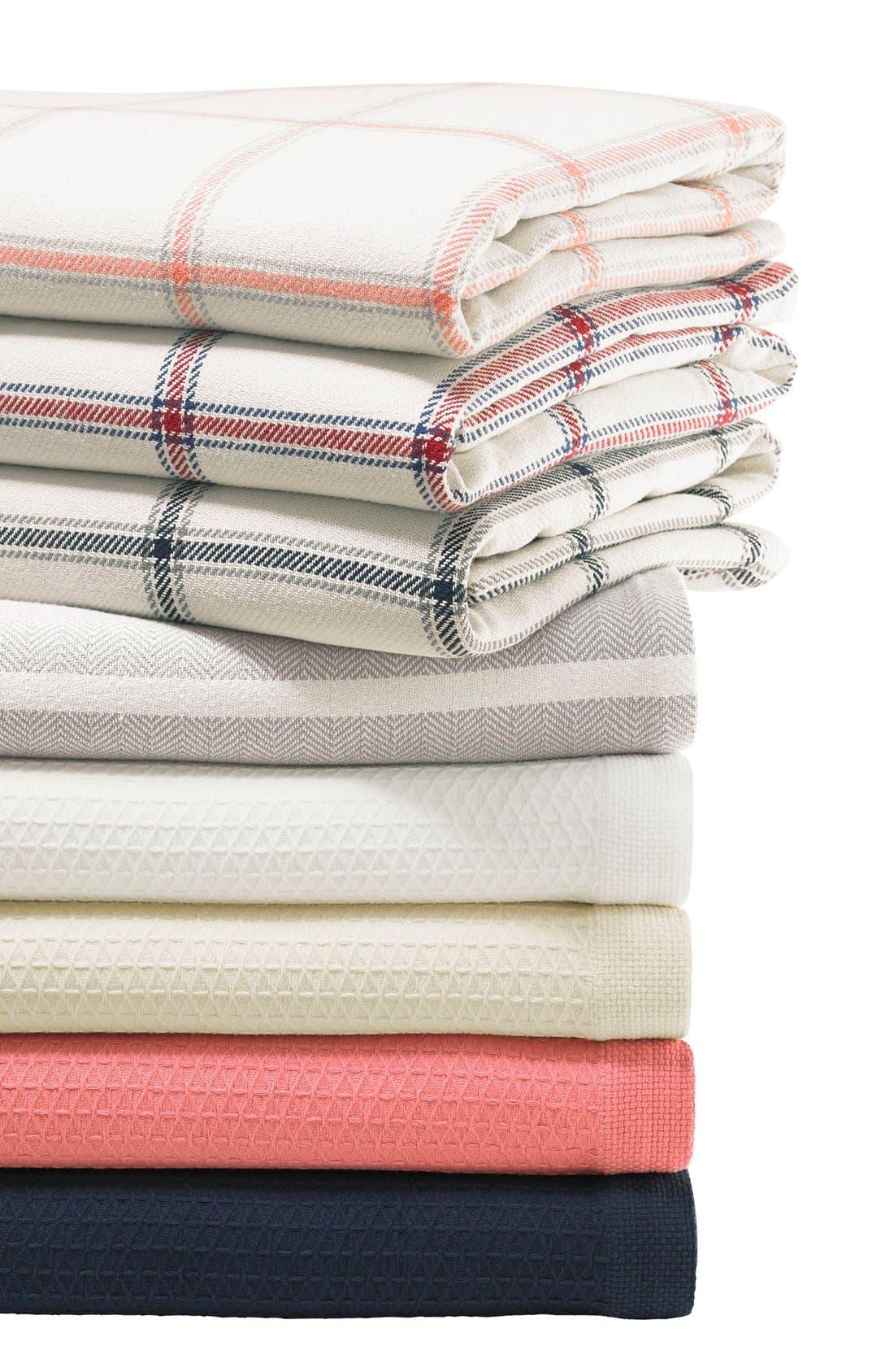 'Halstead' Windowpane Plaid Blanket,                             Alternate thumbnail 4, color,