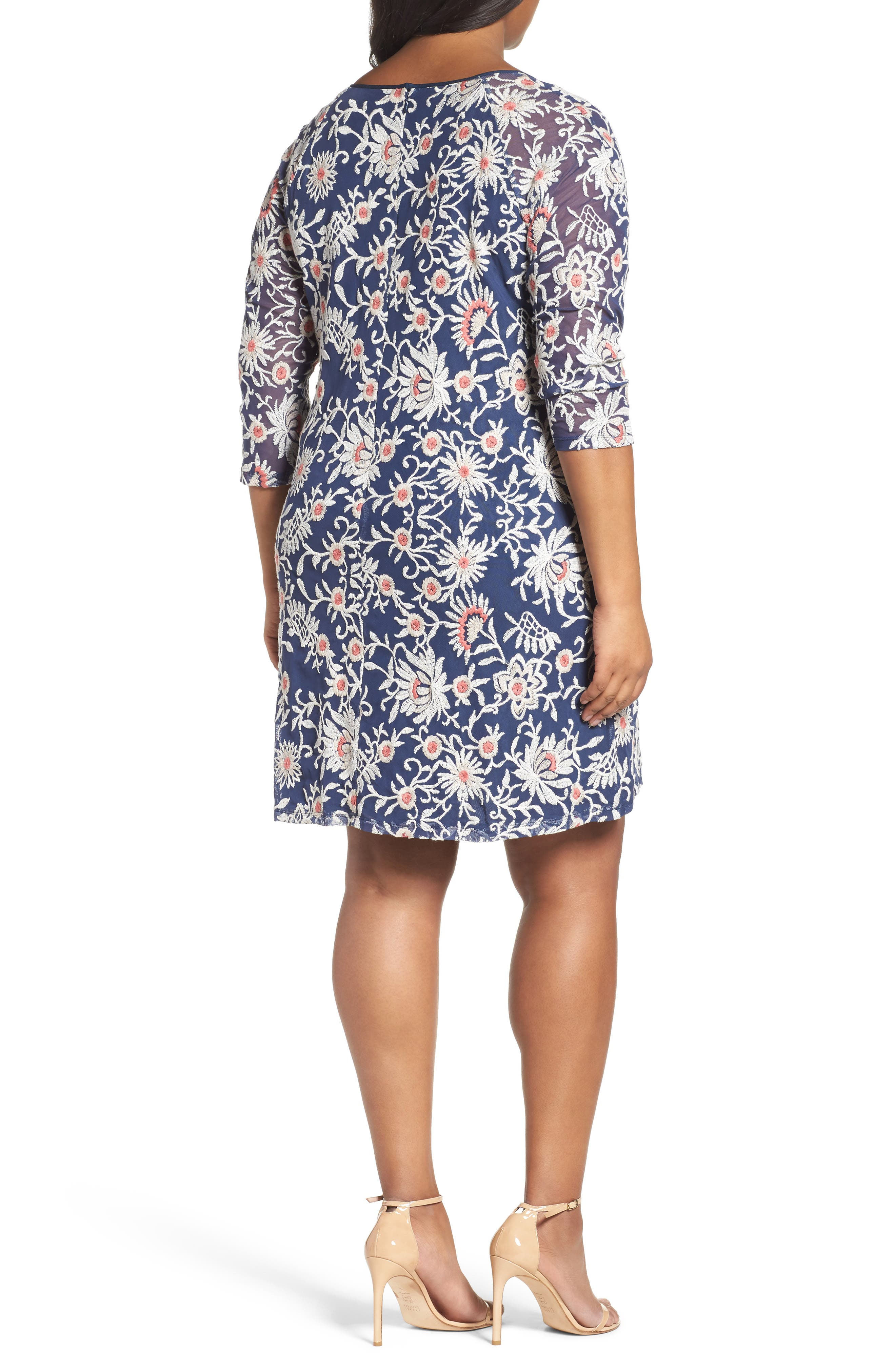 Marrakesh Embroidered Trapeze Dress,                             Alternate thumbnail 6, color,