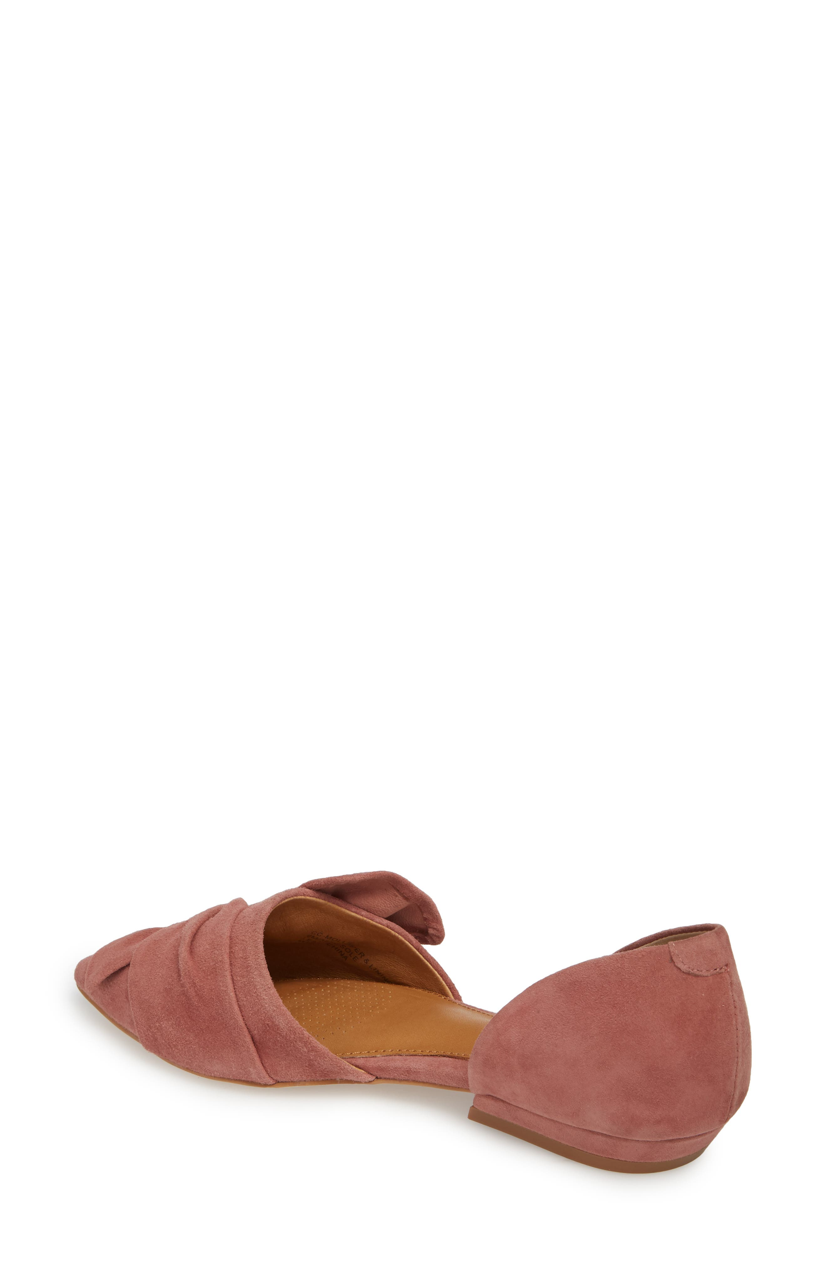 Mollie d'Orsay Flat,                             Alternate thumbnail 2, color,                             OLD ROSE SUEDE
