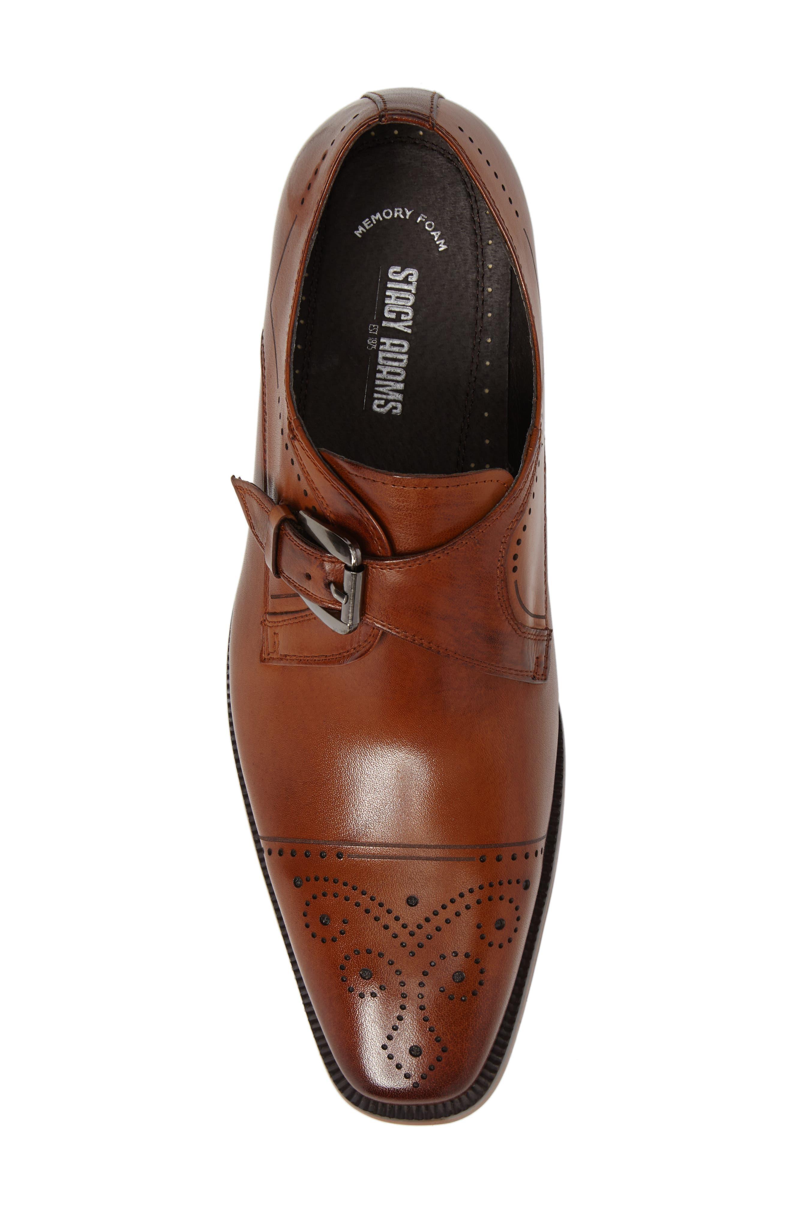 Kimball Monk Strap Shoe,                             Alternate thumbnail 5, color,                             SADDLE TAN LEATHER