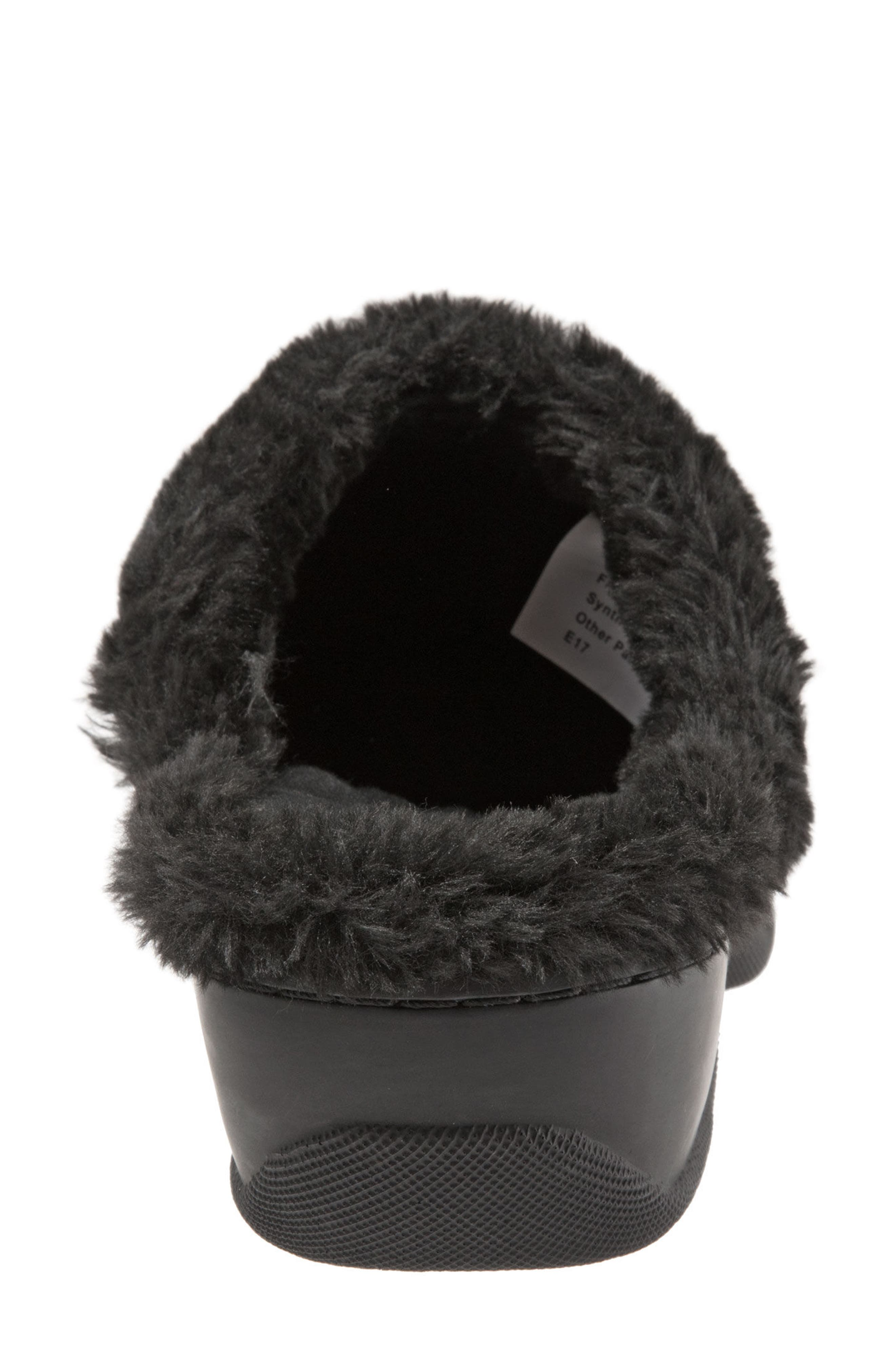 Abigail Clog with Faux Shearling Trim,                             Alternate thumbnail 7, color,                             004