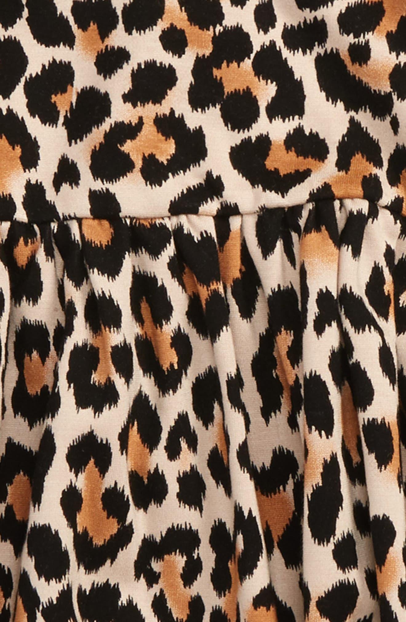 leopard print skirt,                             Alternate thumbnail 2, color,