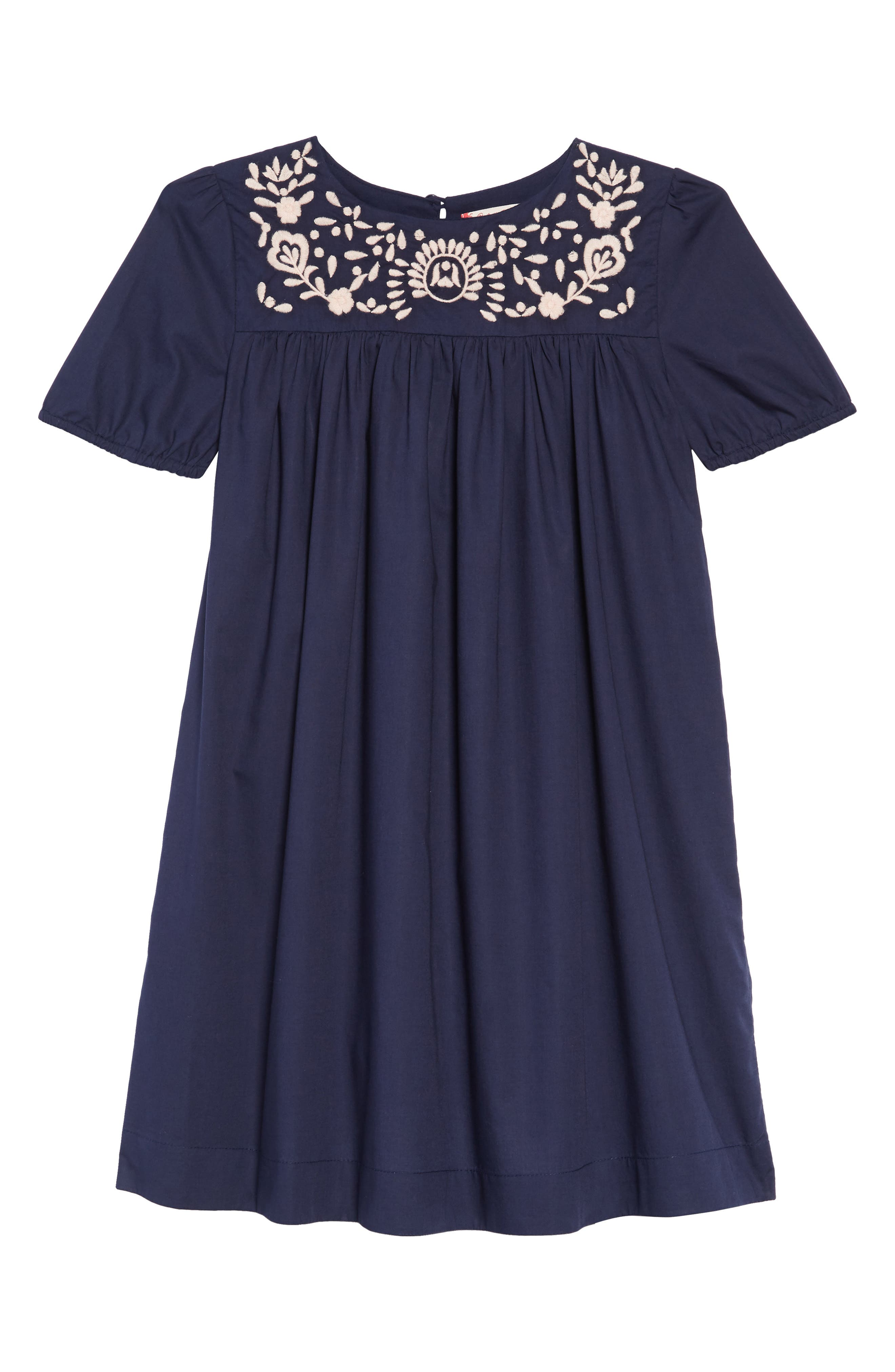 Embroidered Dress,                         Main,                         color, NAVY PEACOAT