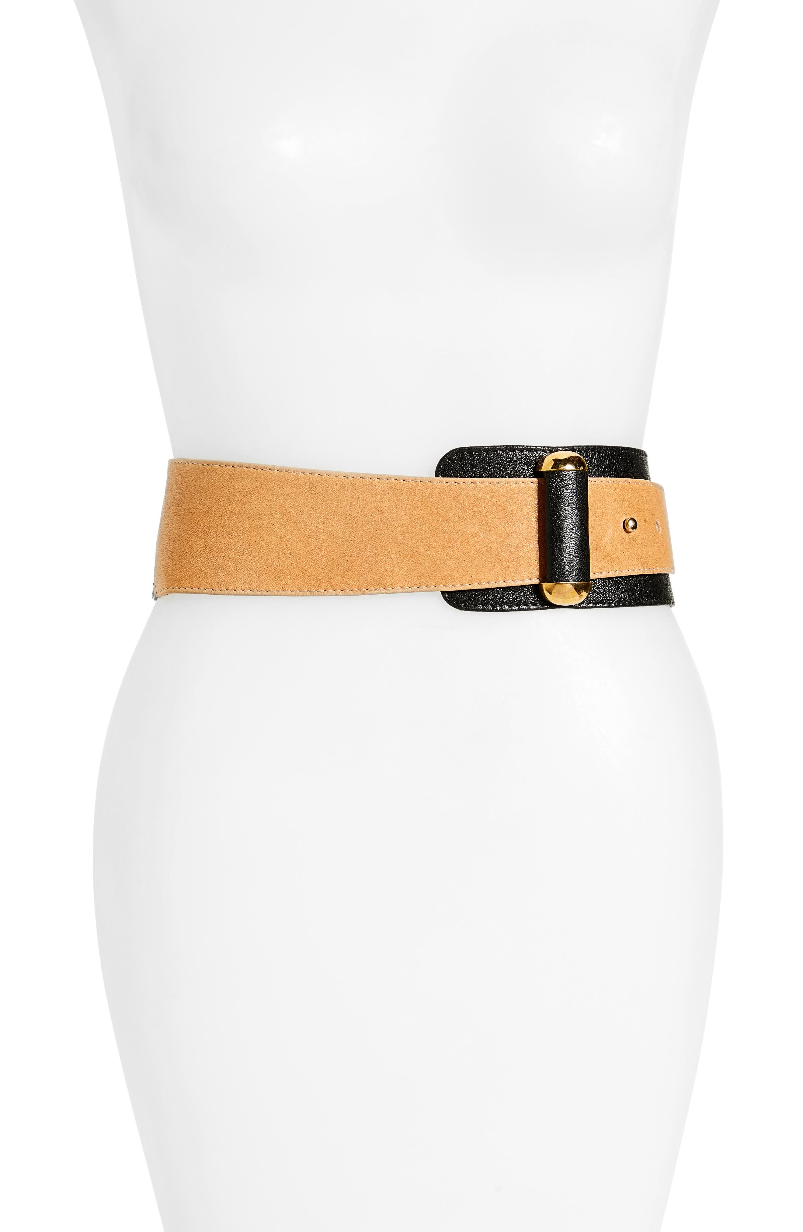 Raina Vixen Leather Belt, Black/ Brown
