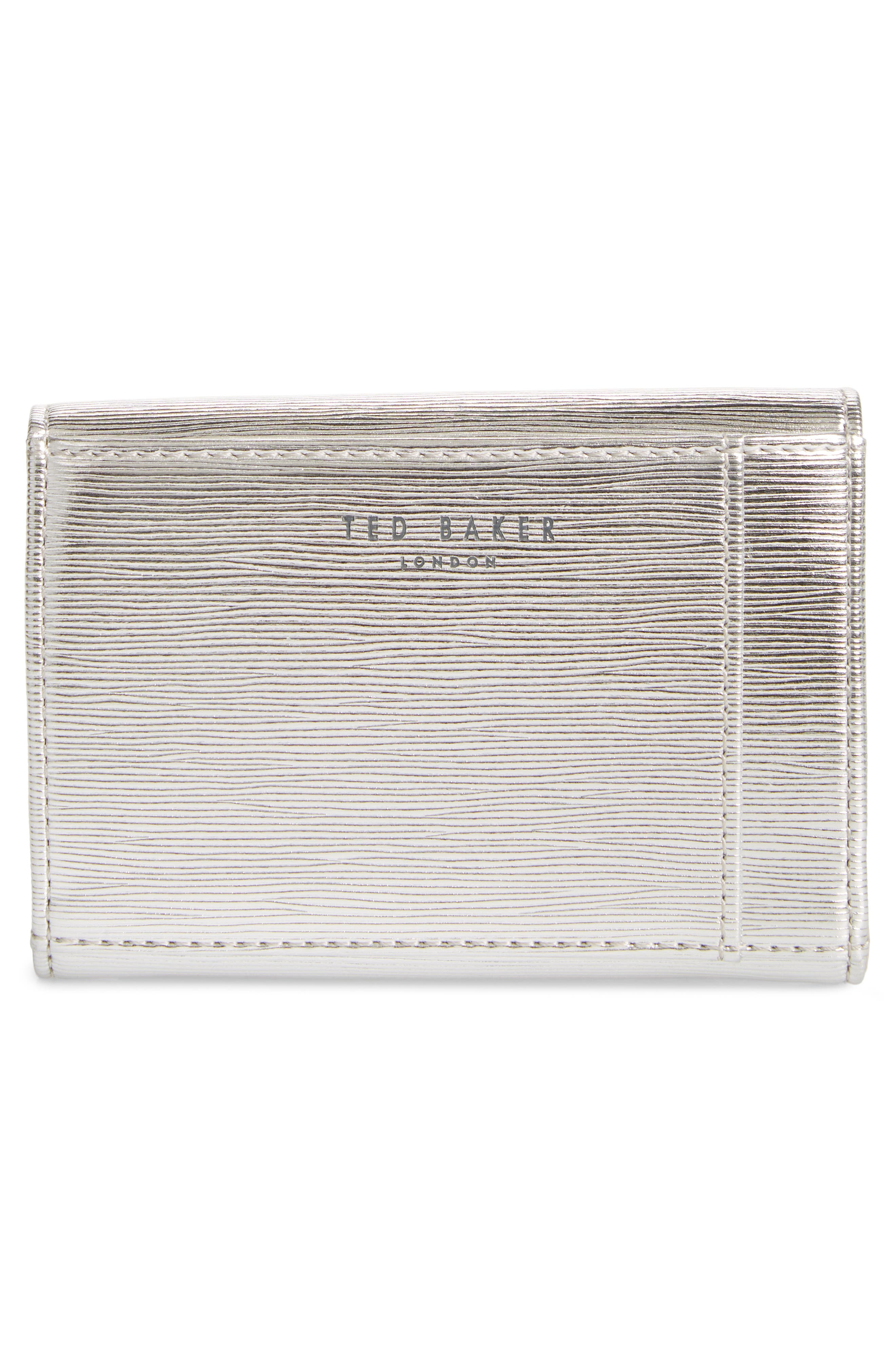 Valenta Plissé Leather Mini Wallet,                             Alternate thumbnail 8, color,