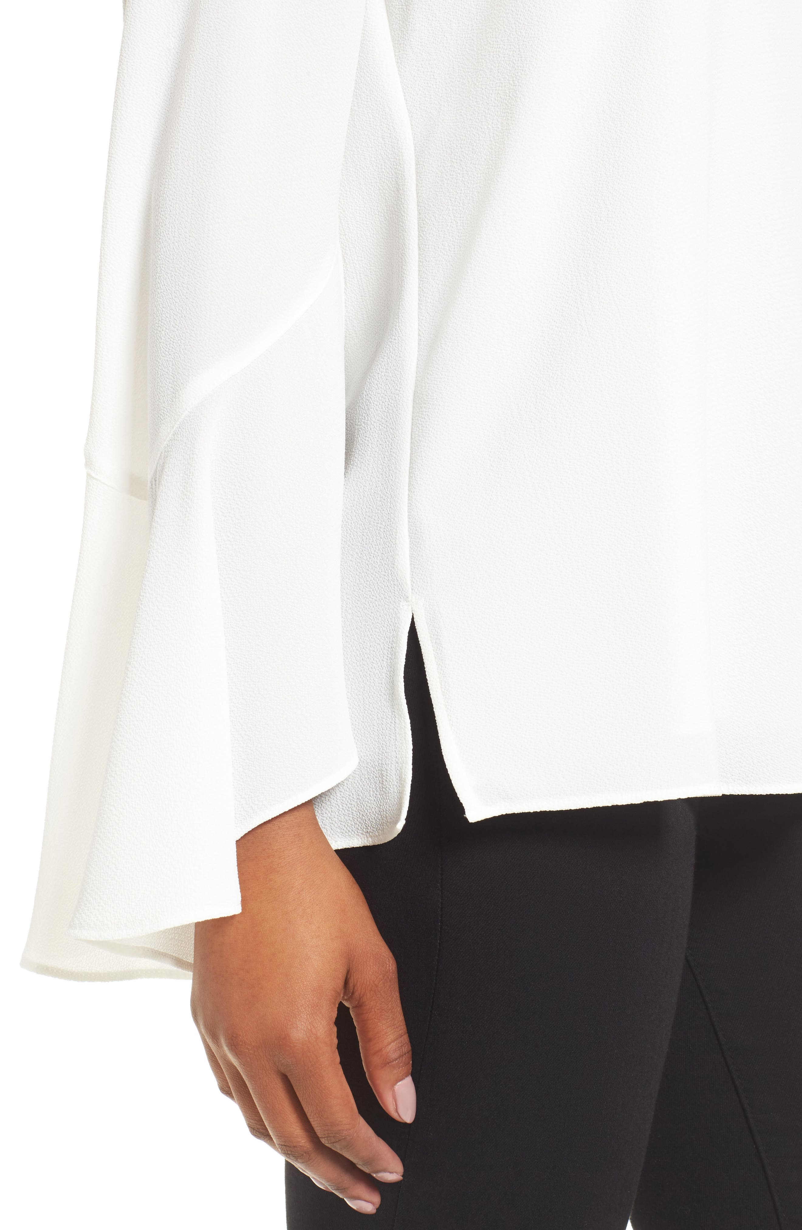 Flared Cuff Blouse,                             Alternate thumbnail 4, color,                             103