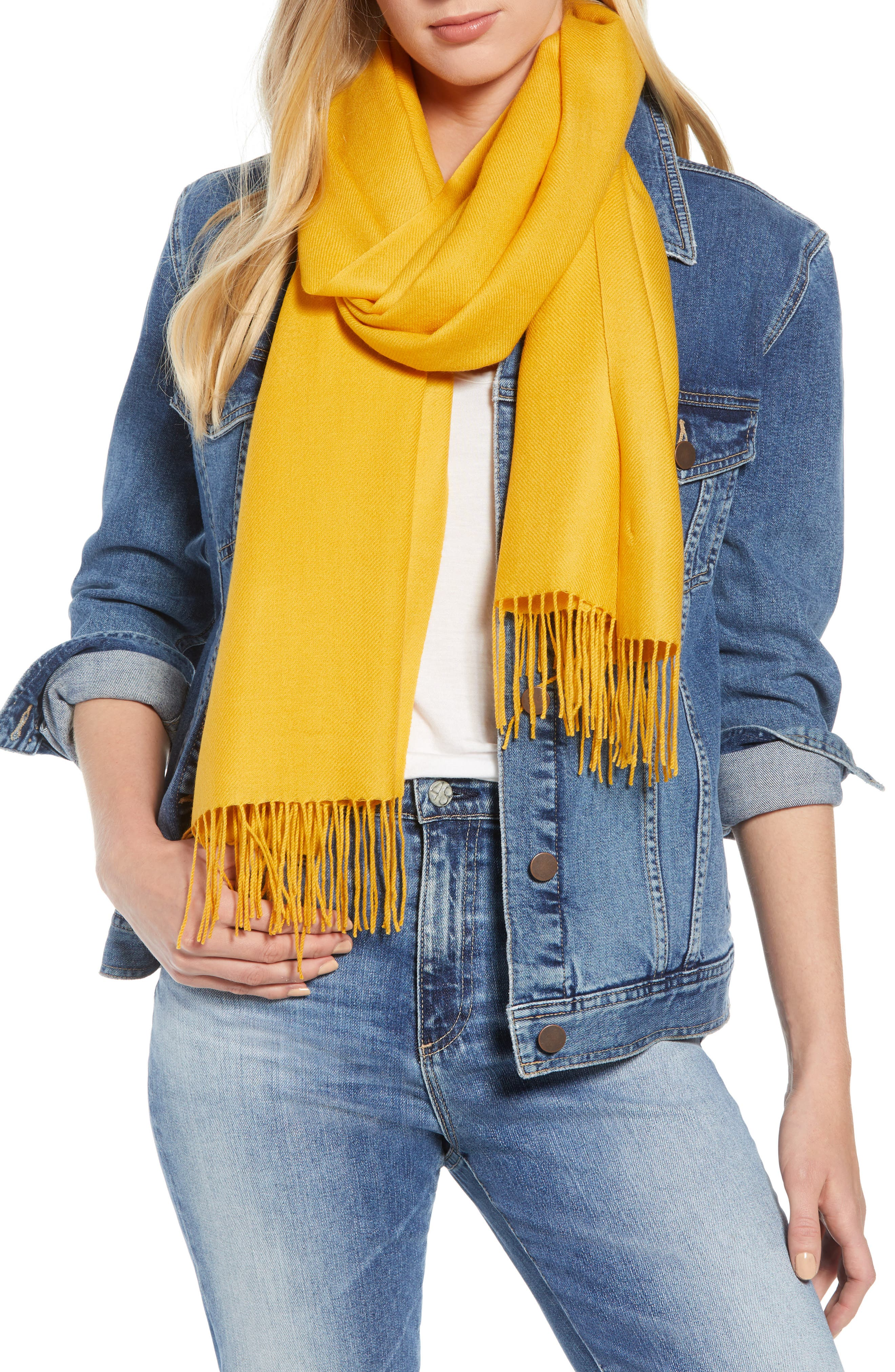 Tissue Weight Wool & Cashmere Scarf,                             Main thumbnail 12, color,