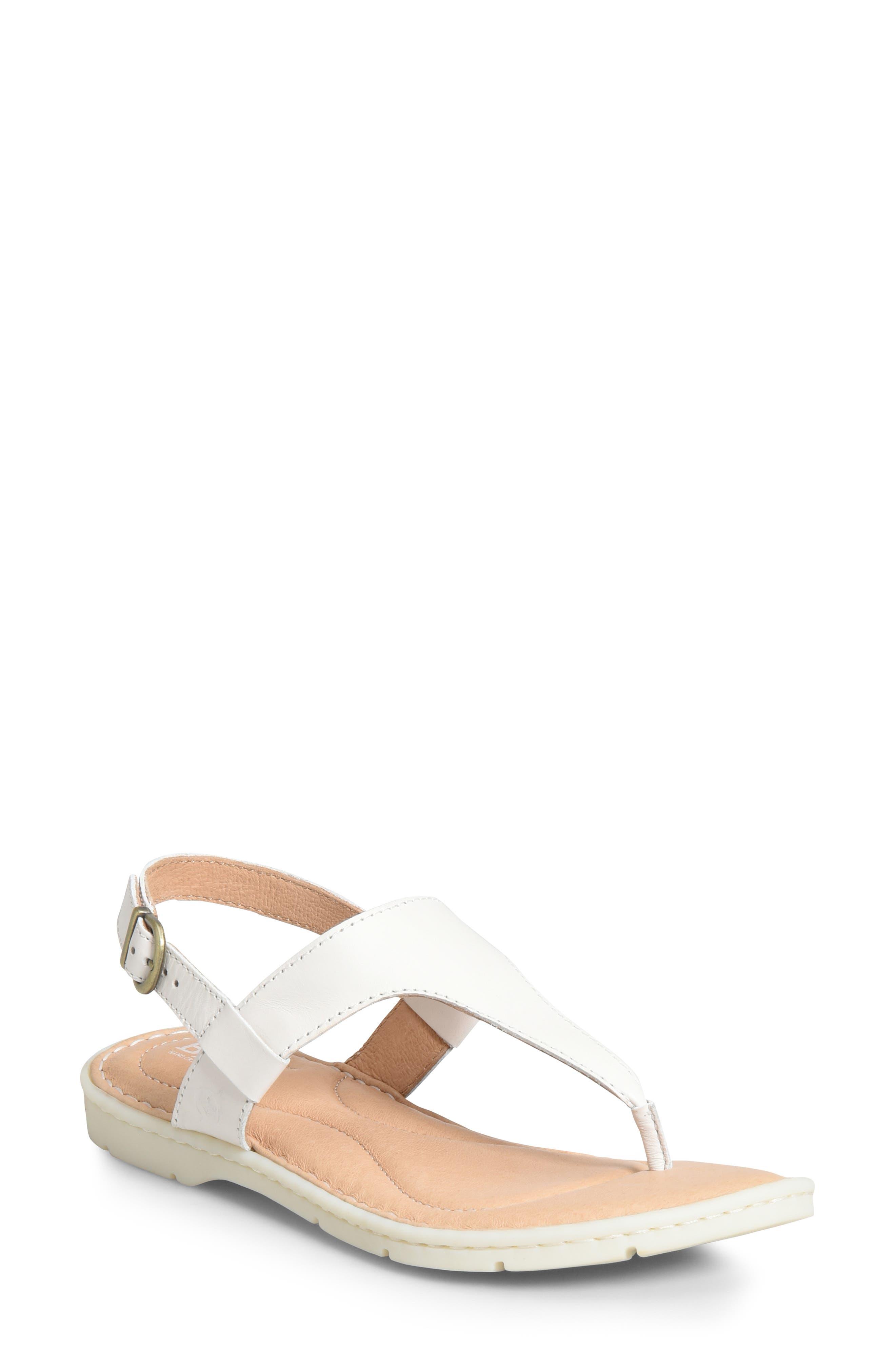 B?rn Taylor V-Strap Sandal, White