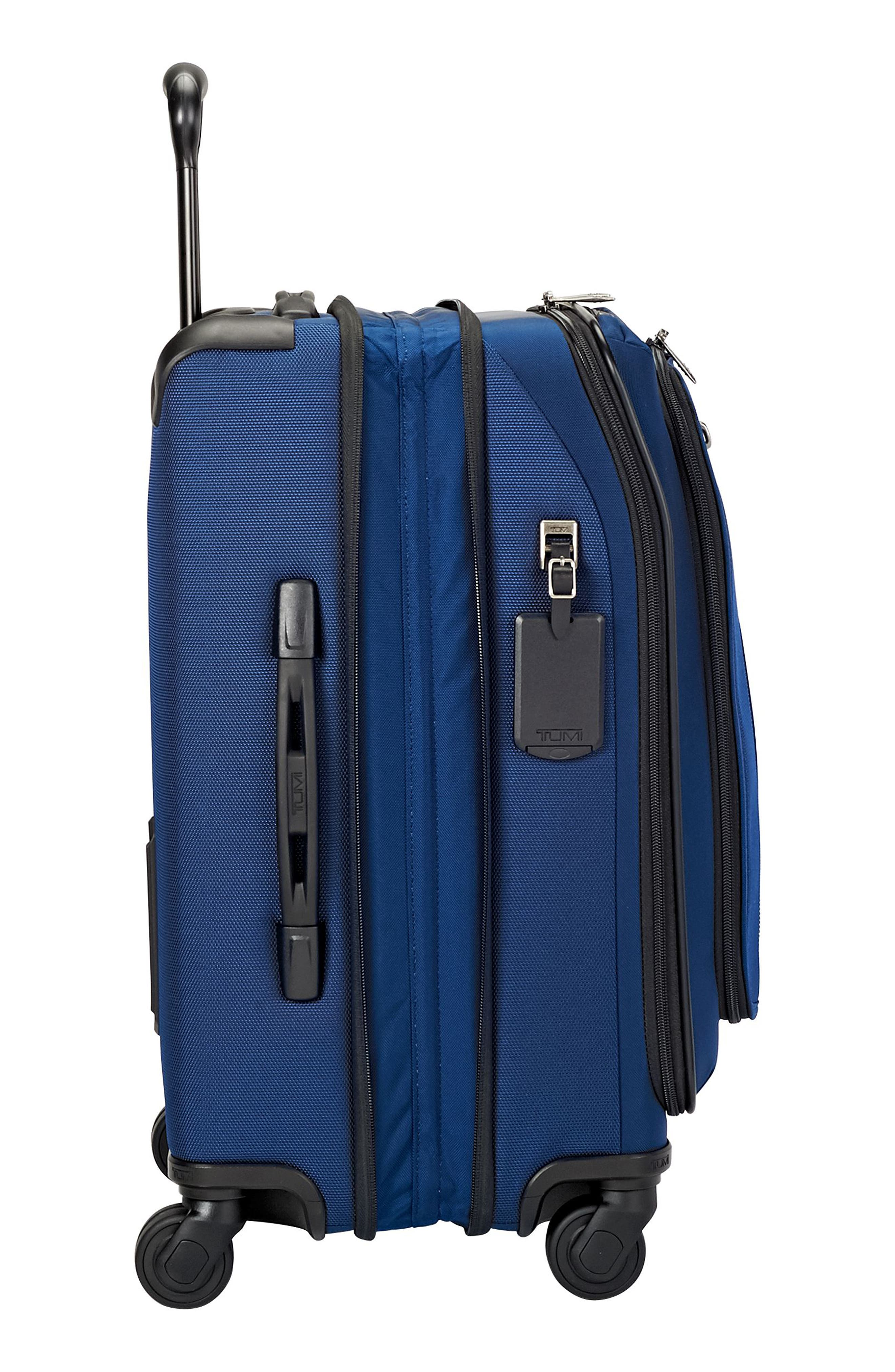 Merge - 22-Inch International Expandable Rolling Carry-On,                             Alternate thumbnail 3, color,                             OCEAN BLUE
