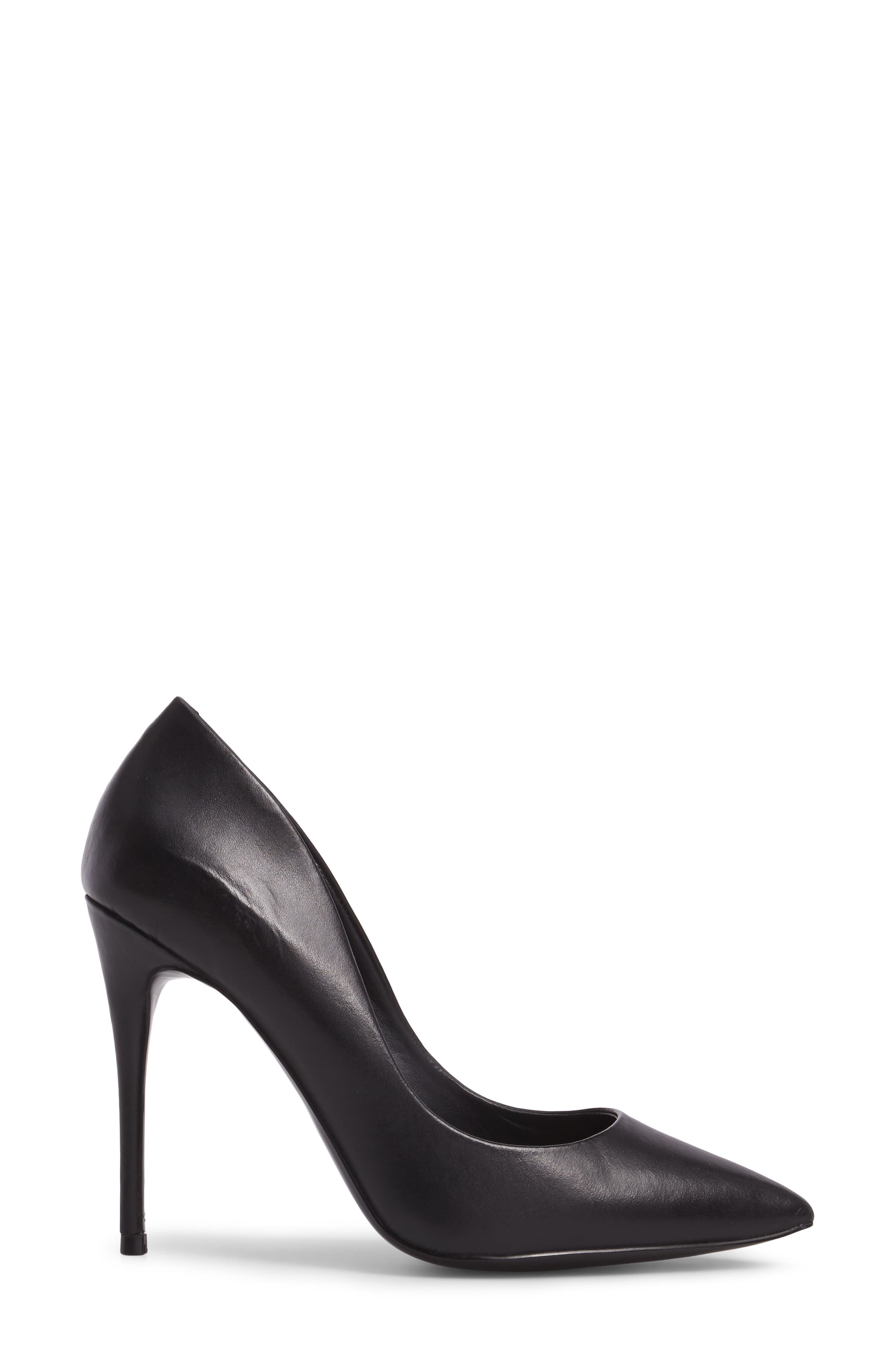 Daisie Pointy-Toe Pump,                             Alternate thumbnail 3, color,                             BLACK LEATHER
