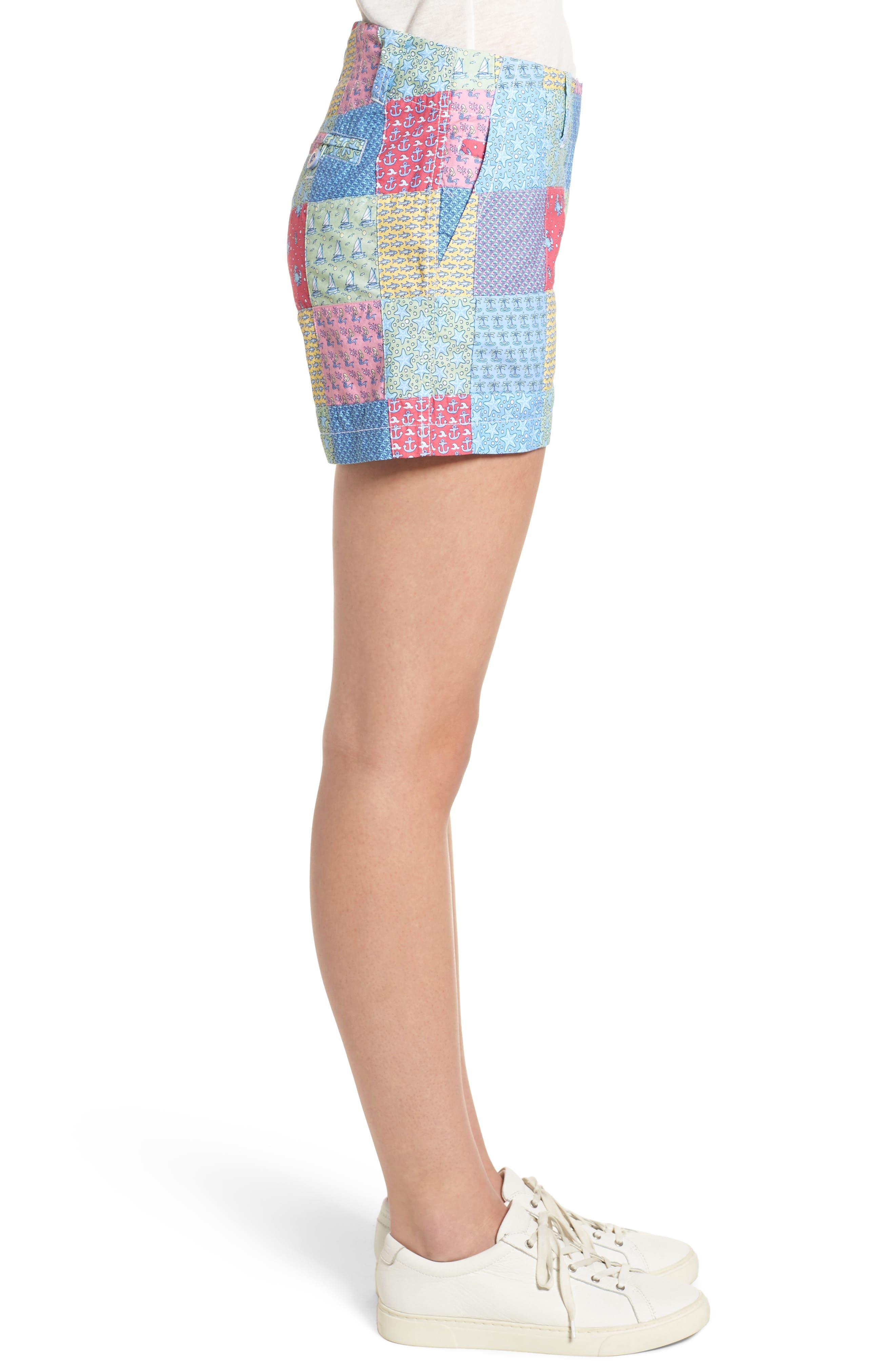 Patchwork Everyday Shorts,                             Alternate thumbnail 3, color,                             631