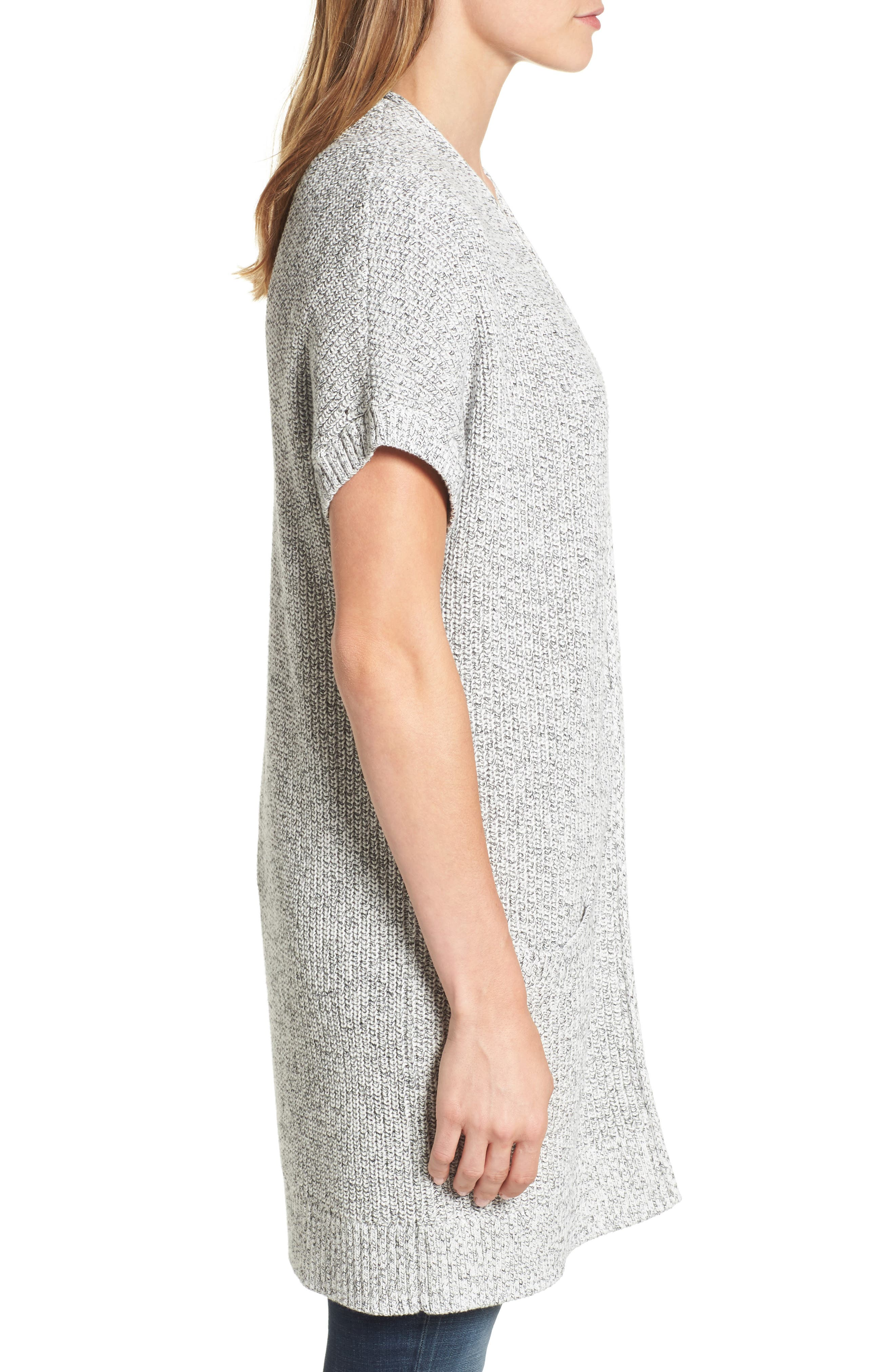 Shaker Stitch Open Front Cardigan,                             Alternate thumbnail 11, color,
