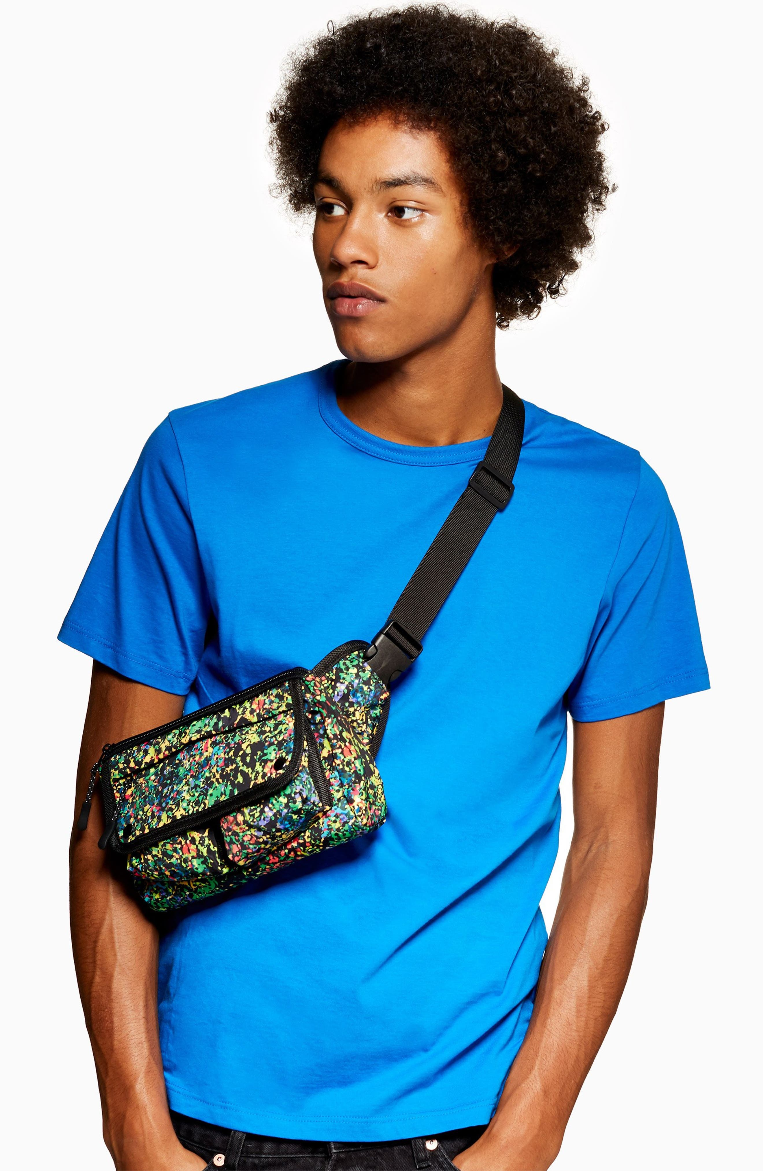Sabre Crossbody Belt Bag,                             Alternate thumbnail 2, color,                             BLACK MULTI