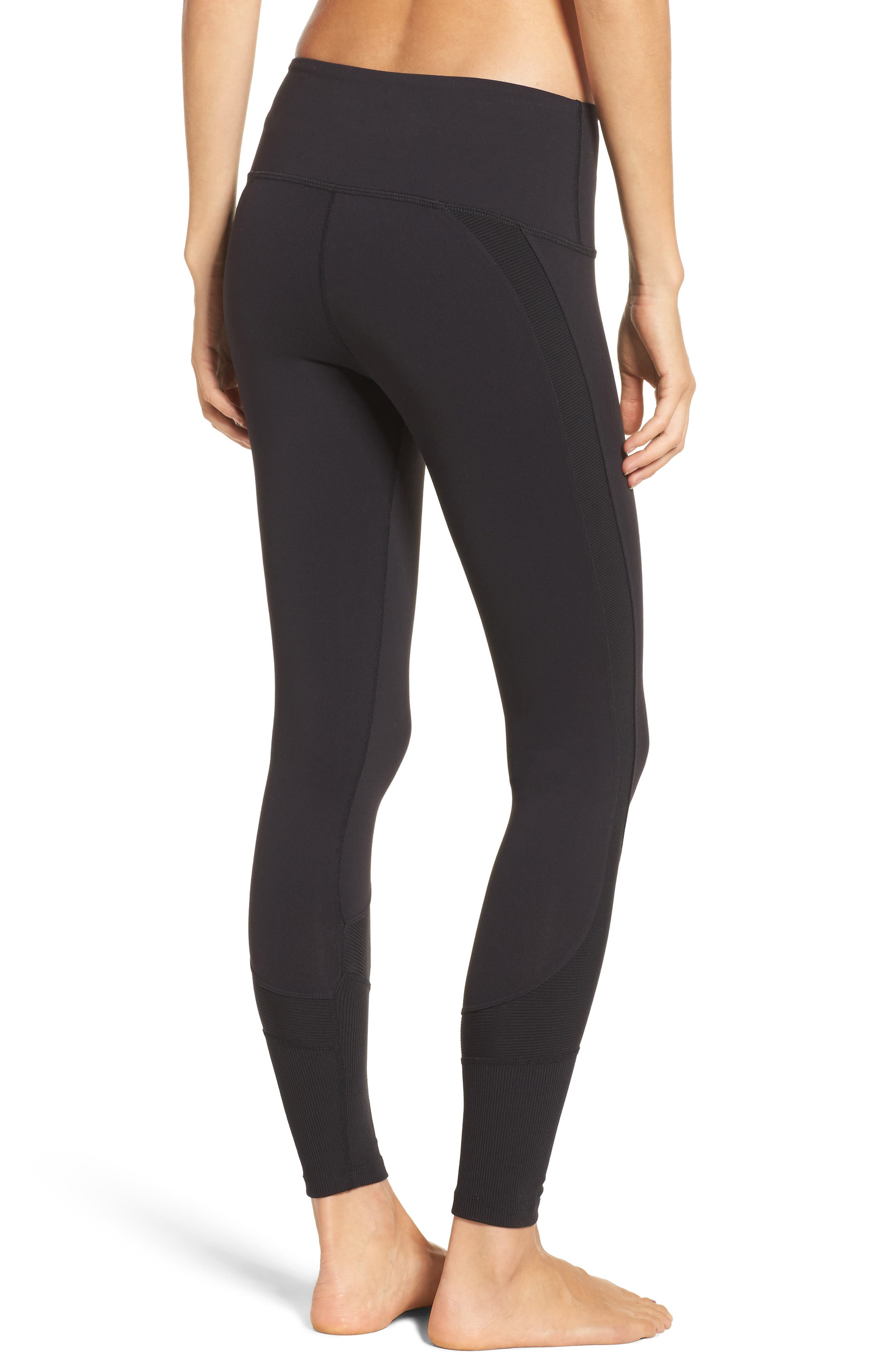 Half Pipe High Waist Tights,                             Alternate thumbnail 2, color,                             001