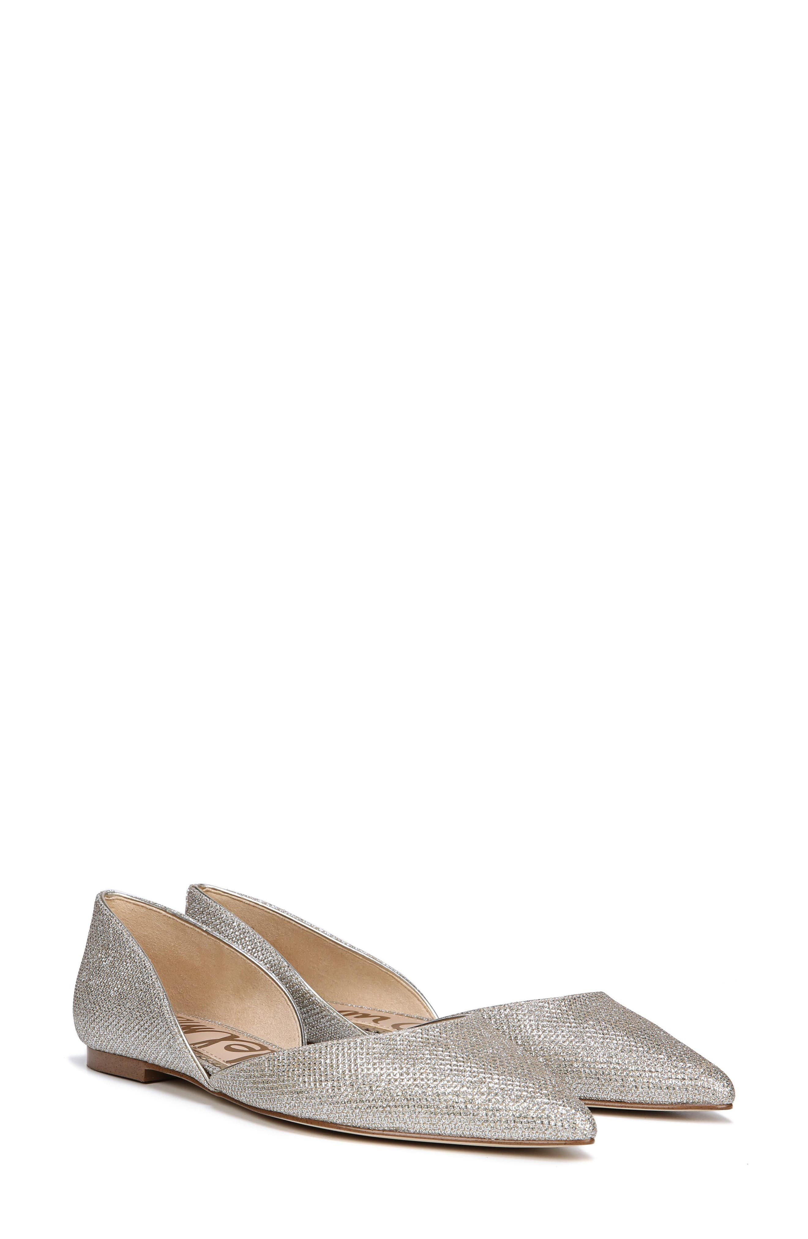 Rodney Pointy Toe d'Orsay Flat,                             Alternate thumbnail 8, color,                             JUTE GLAM FABRIC