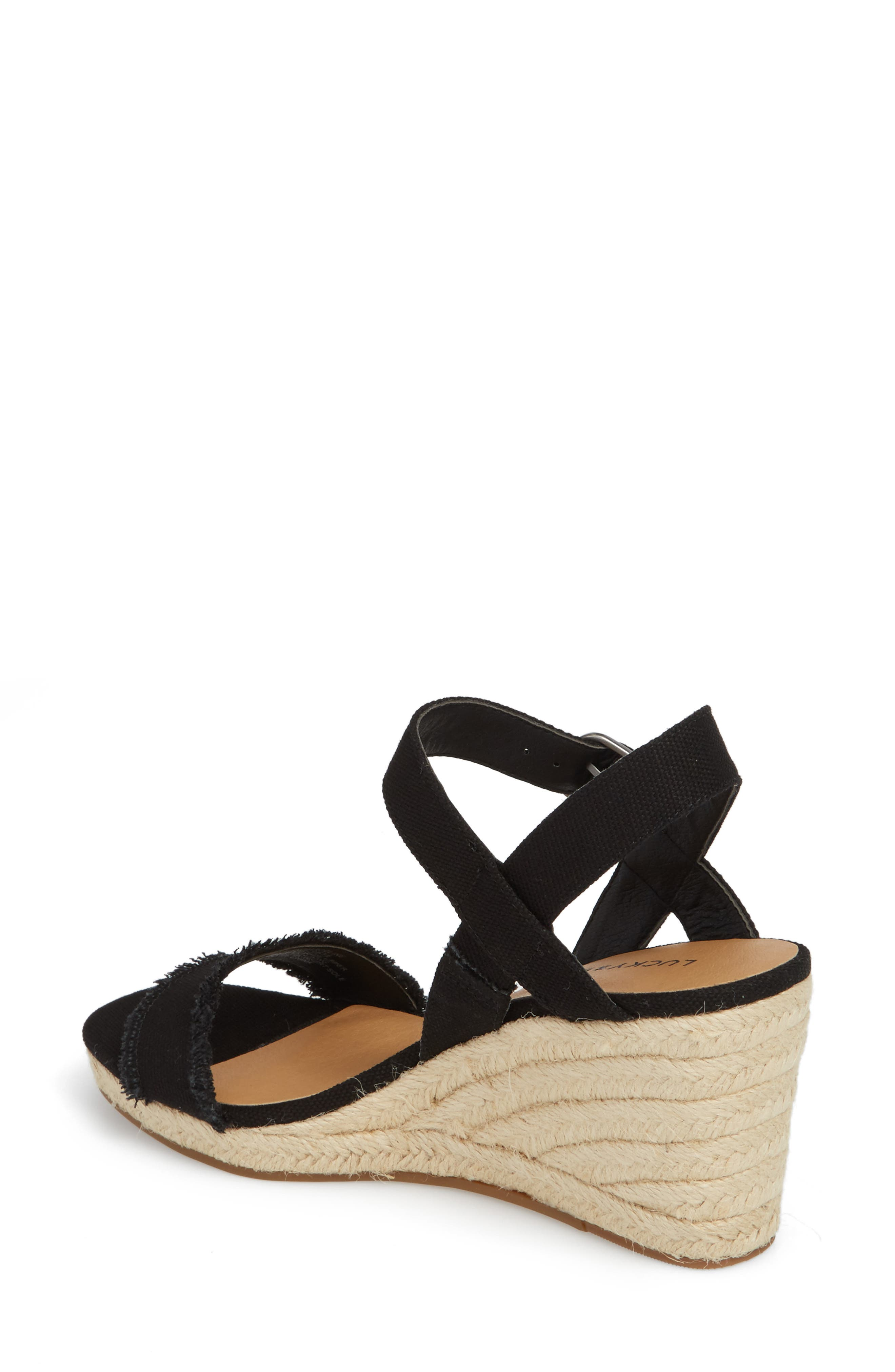 Marceline Squared Toe Wedge Sandal,                             Alternate thumbnail 2, color,                             001
