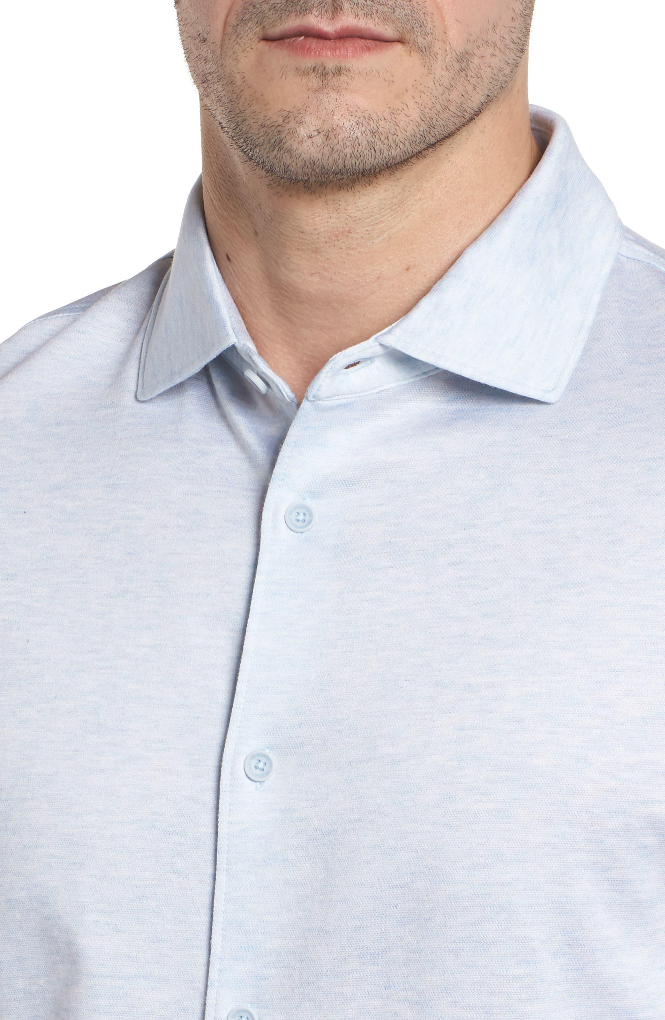 Regular Fit Silk Blend Sport Shirt,                             Alternate thumbnail 20, color,