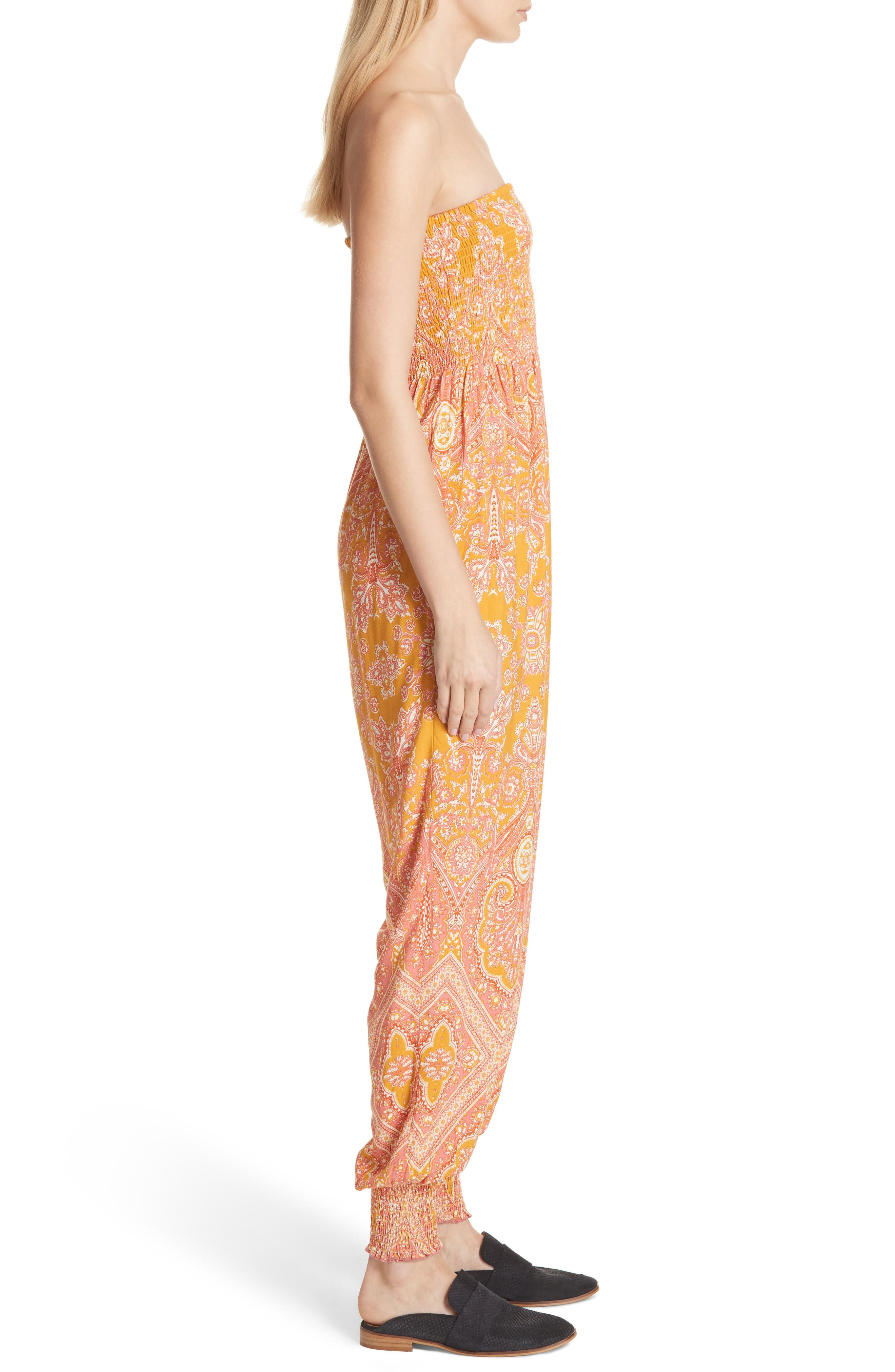 Thinking of You Smocked Jumpsuit,                             Alternate thumbnail 9, color,