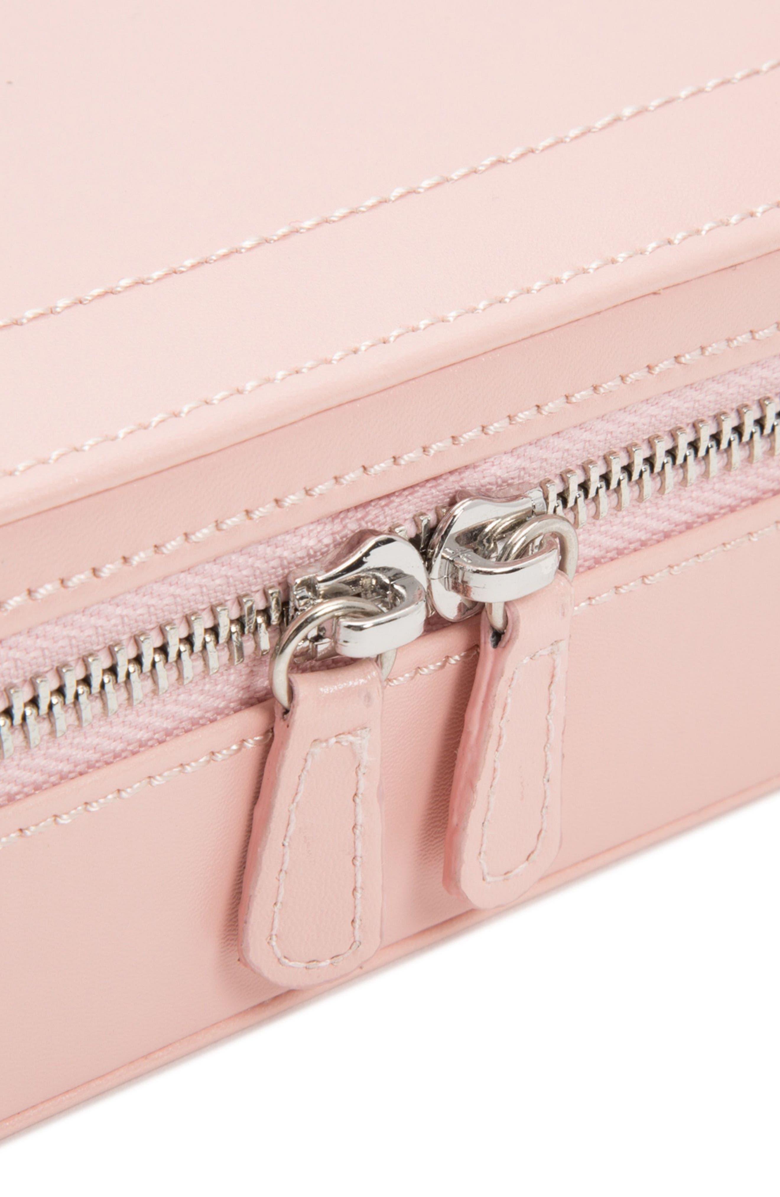 Sophia Rectangle Zip Case,                             Alternate thumbnail 3, color,                             ROSE