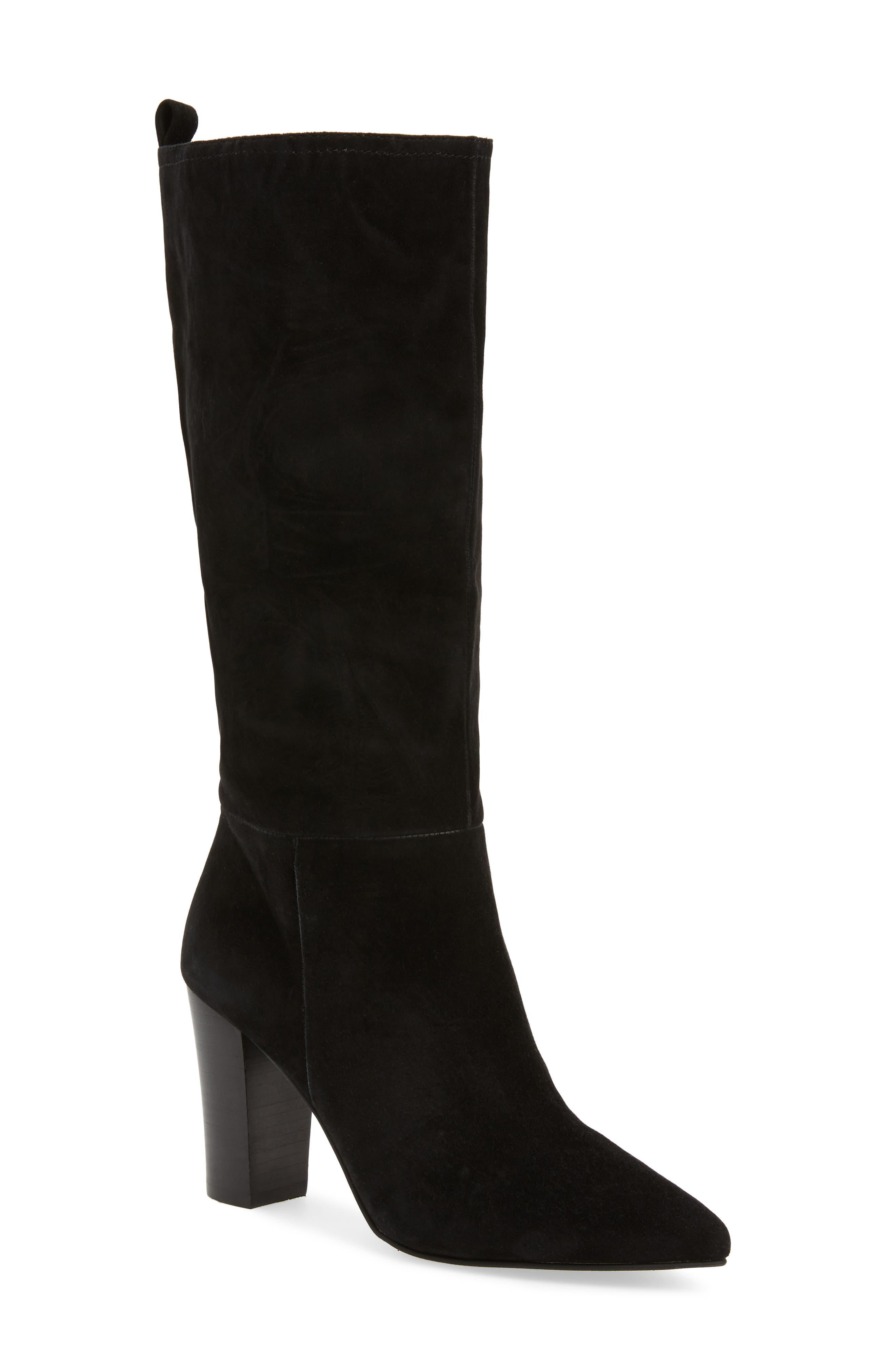 Austin Boot,                         Main,                         color, BLACK SUEDE