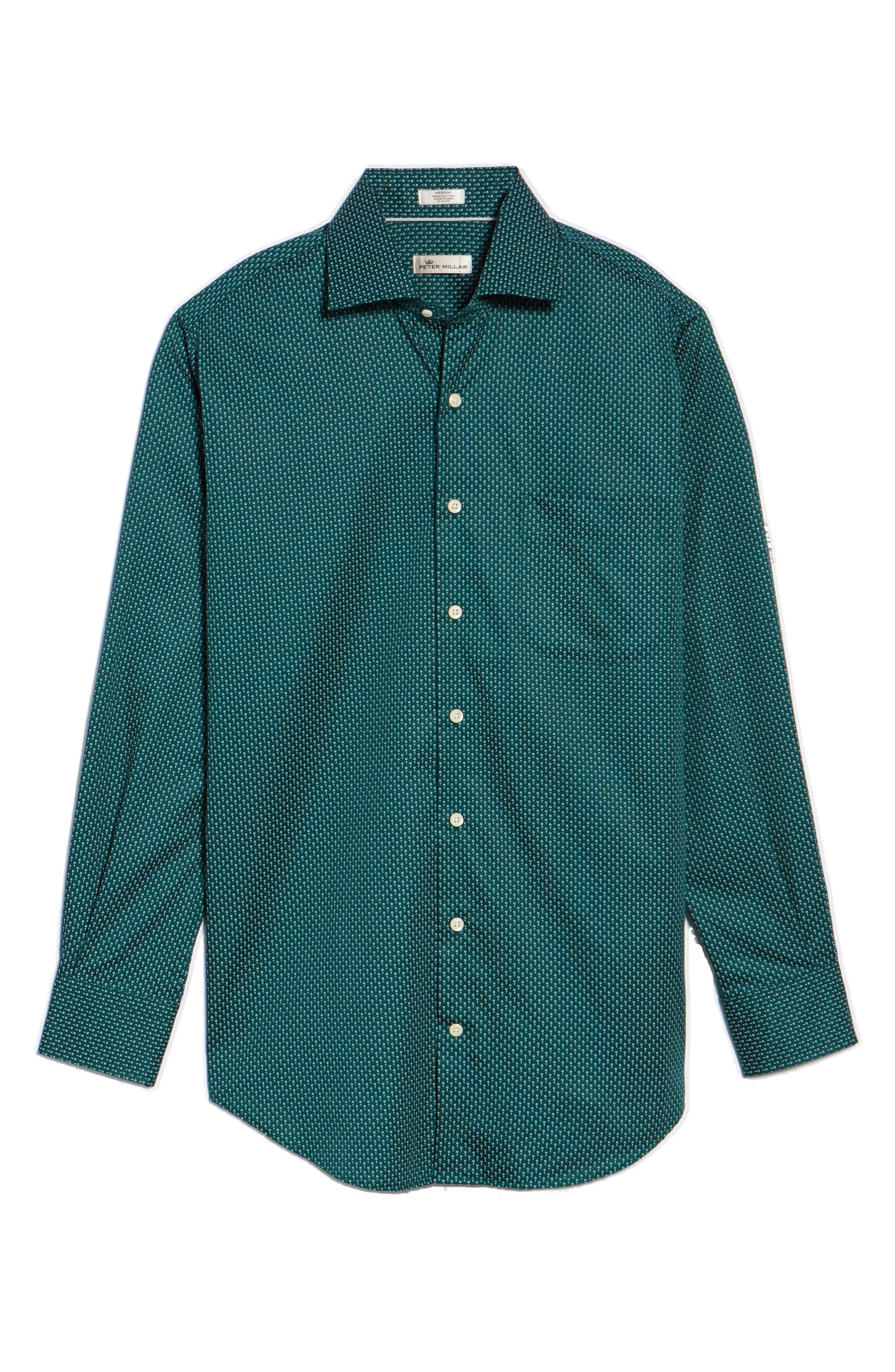 Golf Tee Print Sport Shirt,                             Alternate thumbnail 6, color,