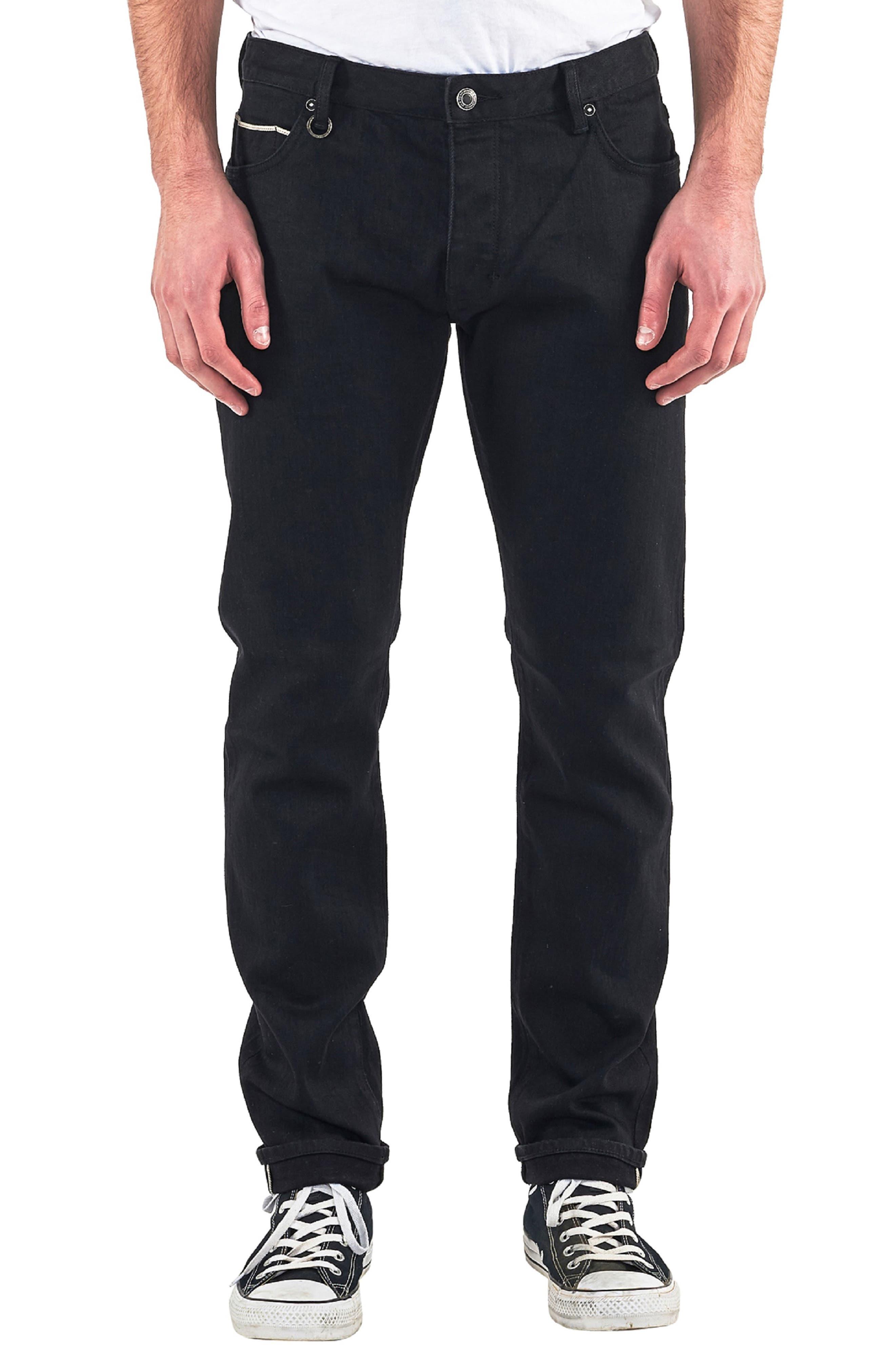 Lou Slim Fit Jeans,                             Main thumbnail 1, color,                             BLACK SELVEDGE
