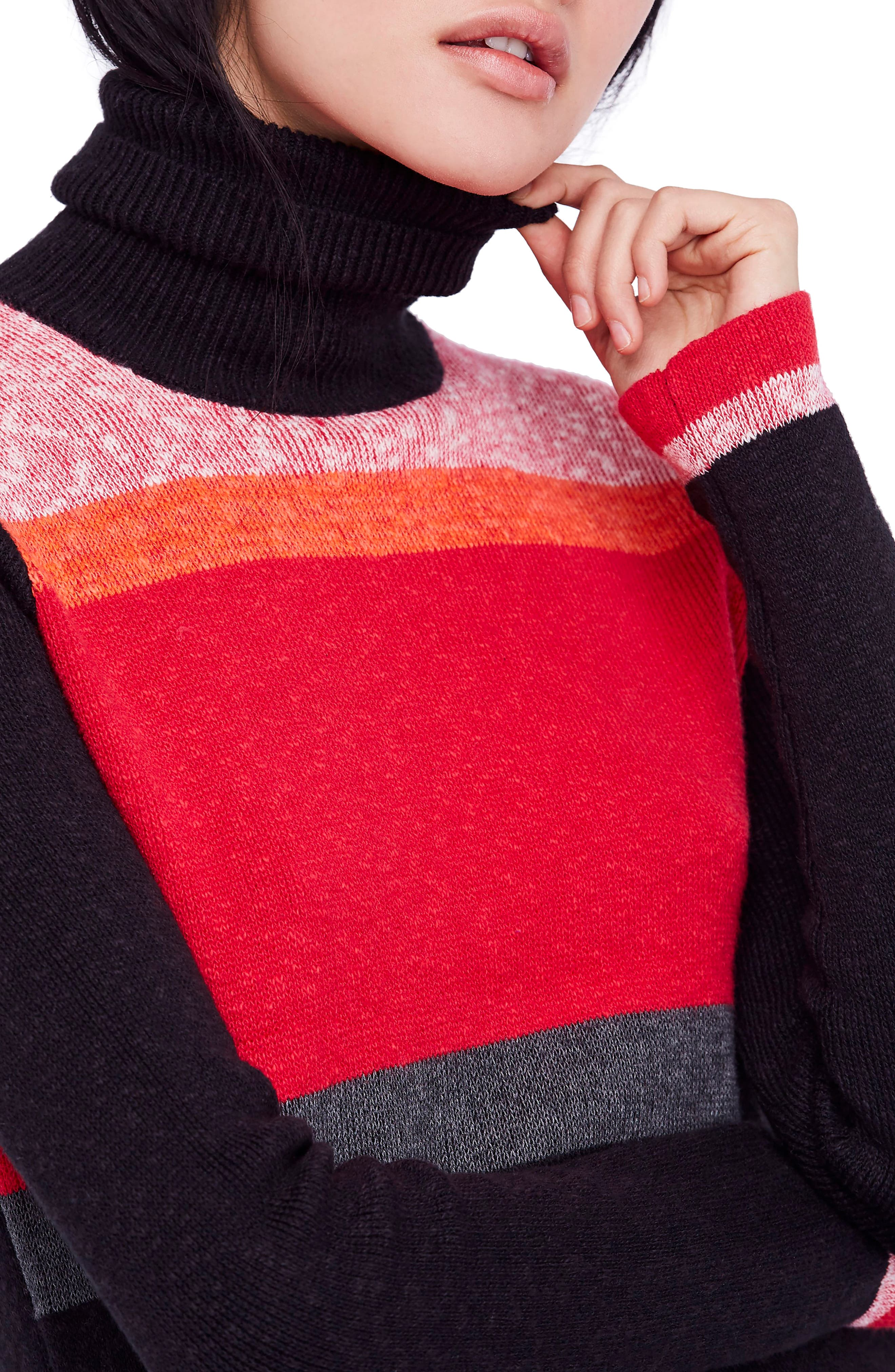 Winter Break Sweater Dress,                             Alternate thumbnail 4, color,                             001
