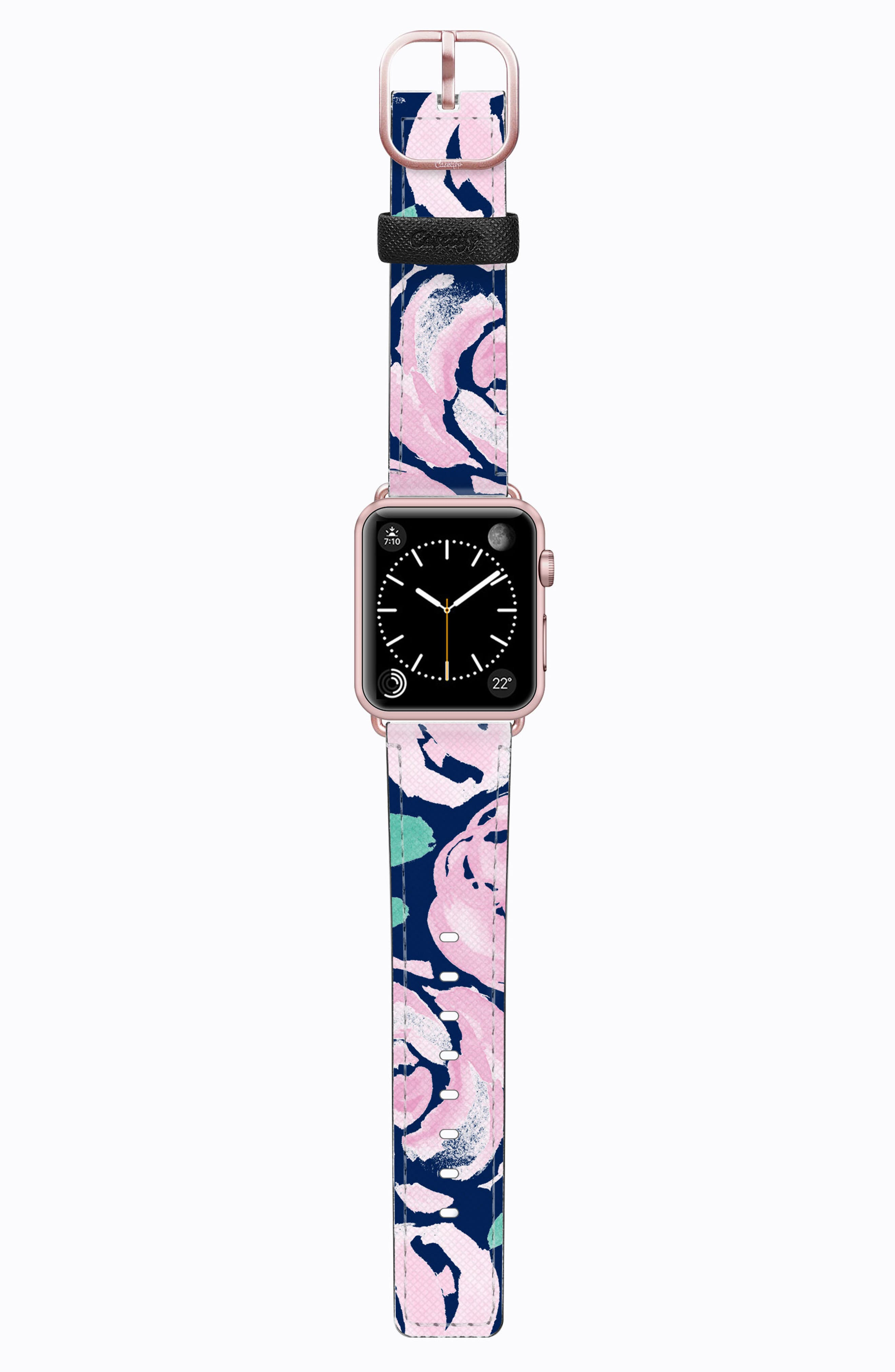 Saffiano Faux Leather Apple Watch Strap,                             Main thumbnail 8, color,