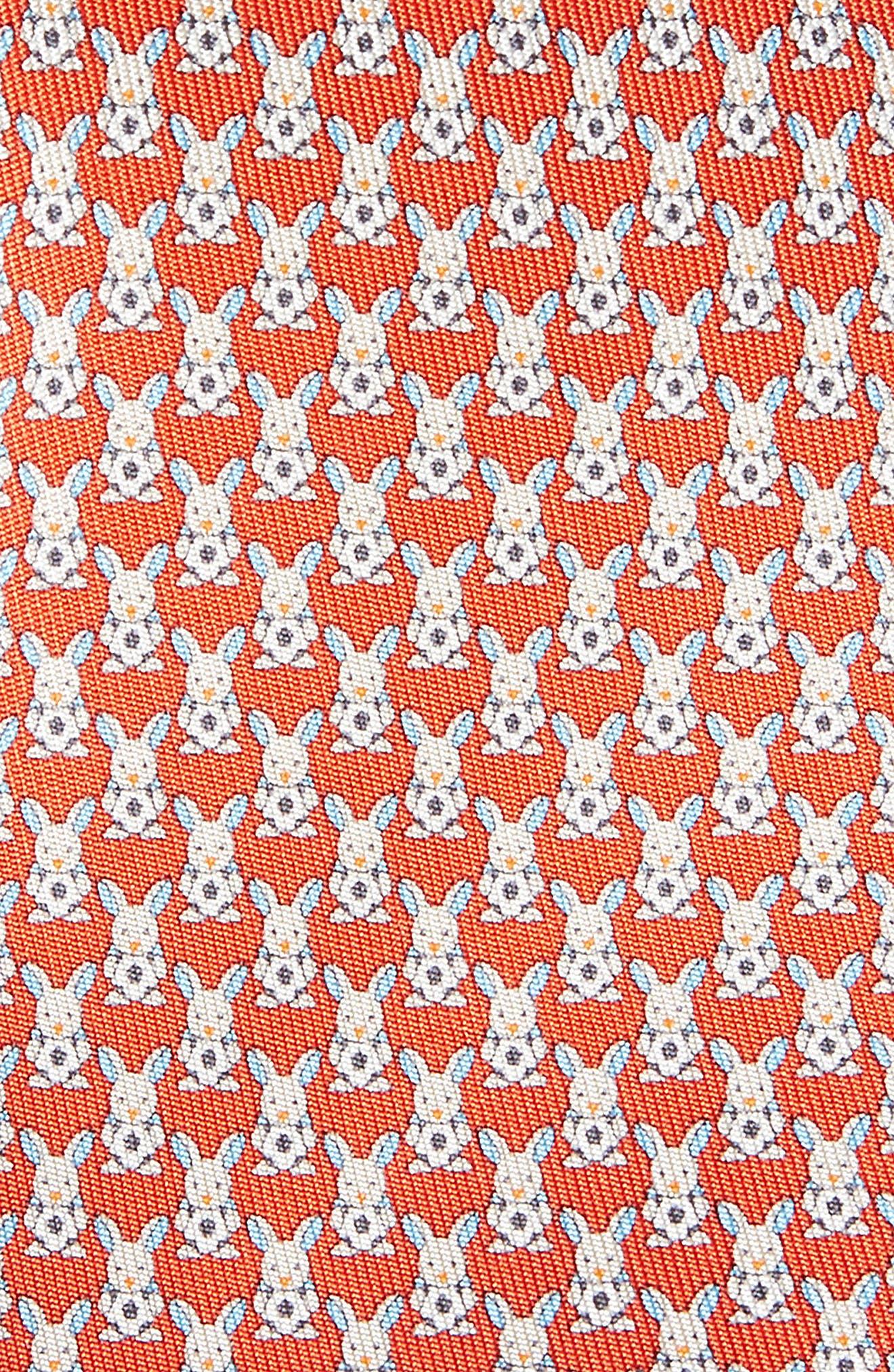Errico Bunny Print Silk Tie,                             Alternate thumbnail 2, color,                             600