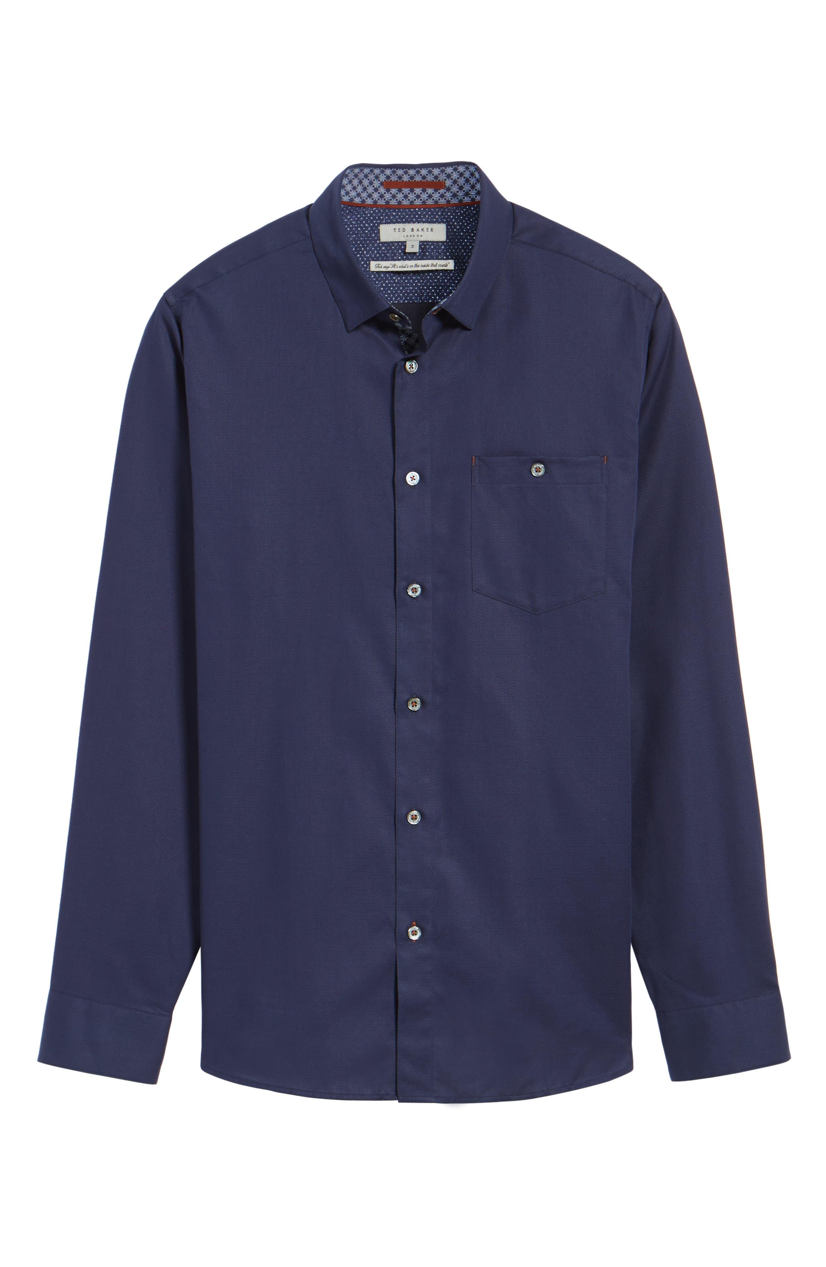Nordlux Modern Slim Fit Stretch Cotton Sport Shirt,                             Alternate thumbnail 28, color,