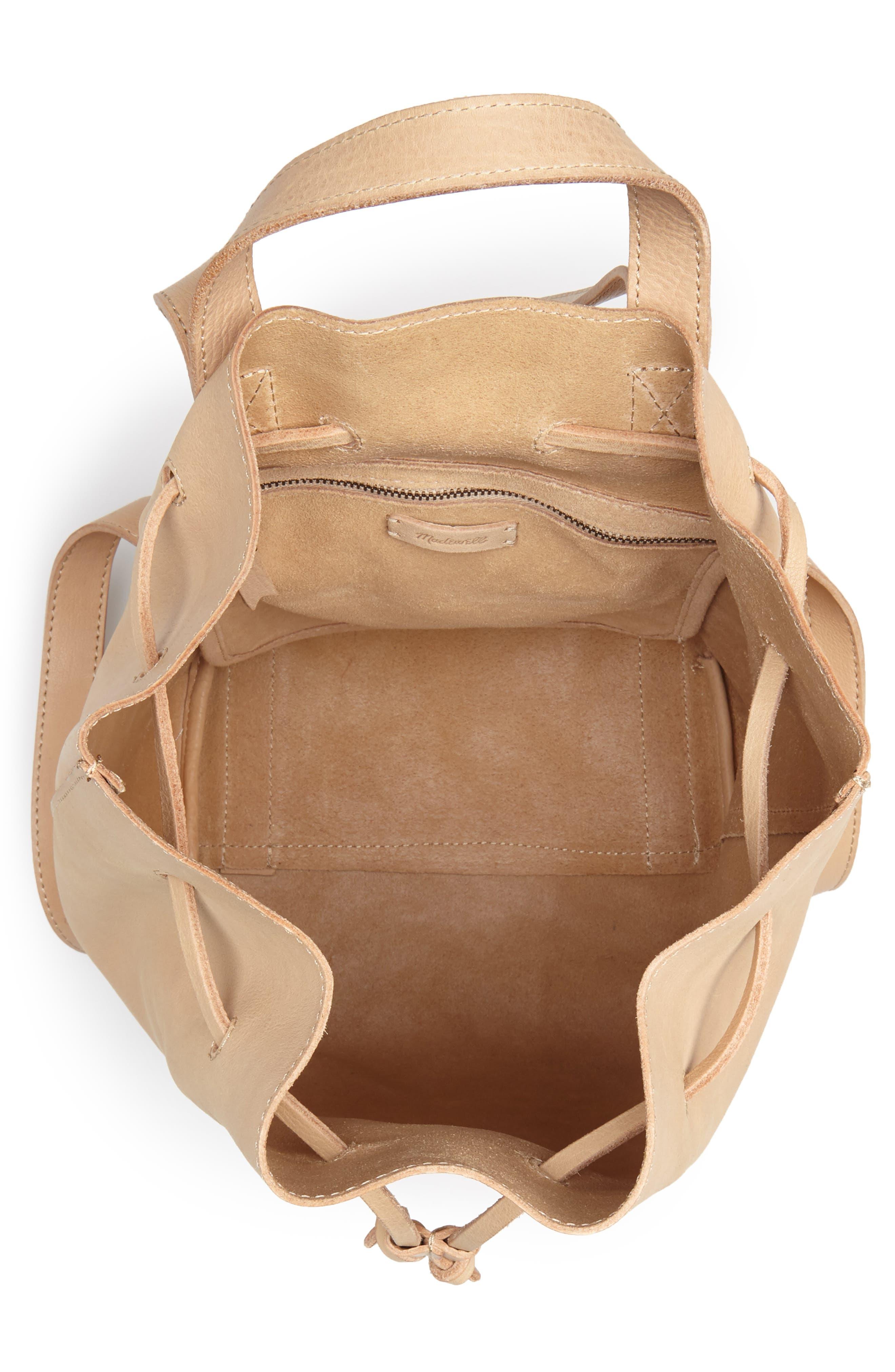 Somerset Leather Backpack,                             Alternate thumbnail 4, color,                             LINEN