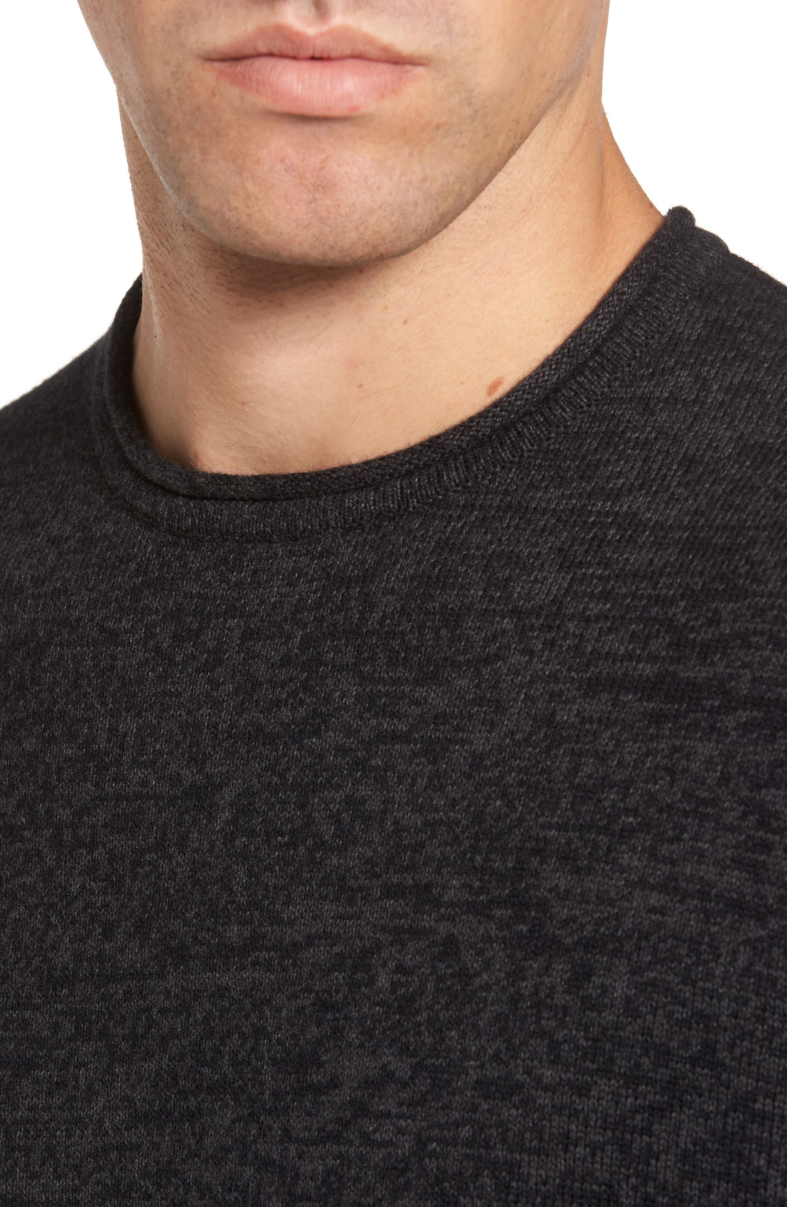 Cotton & Cashmere Roll Neck Sweater,                             Alternate thumbnail 4, color,                             021