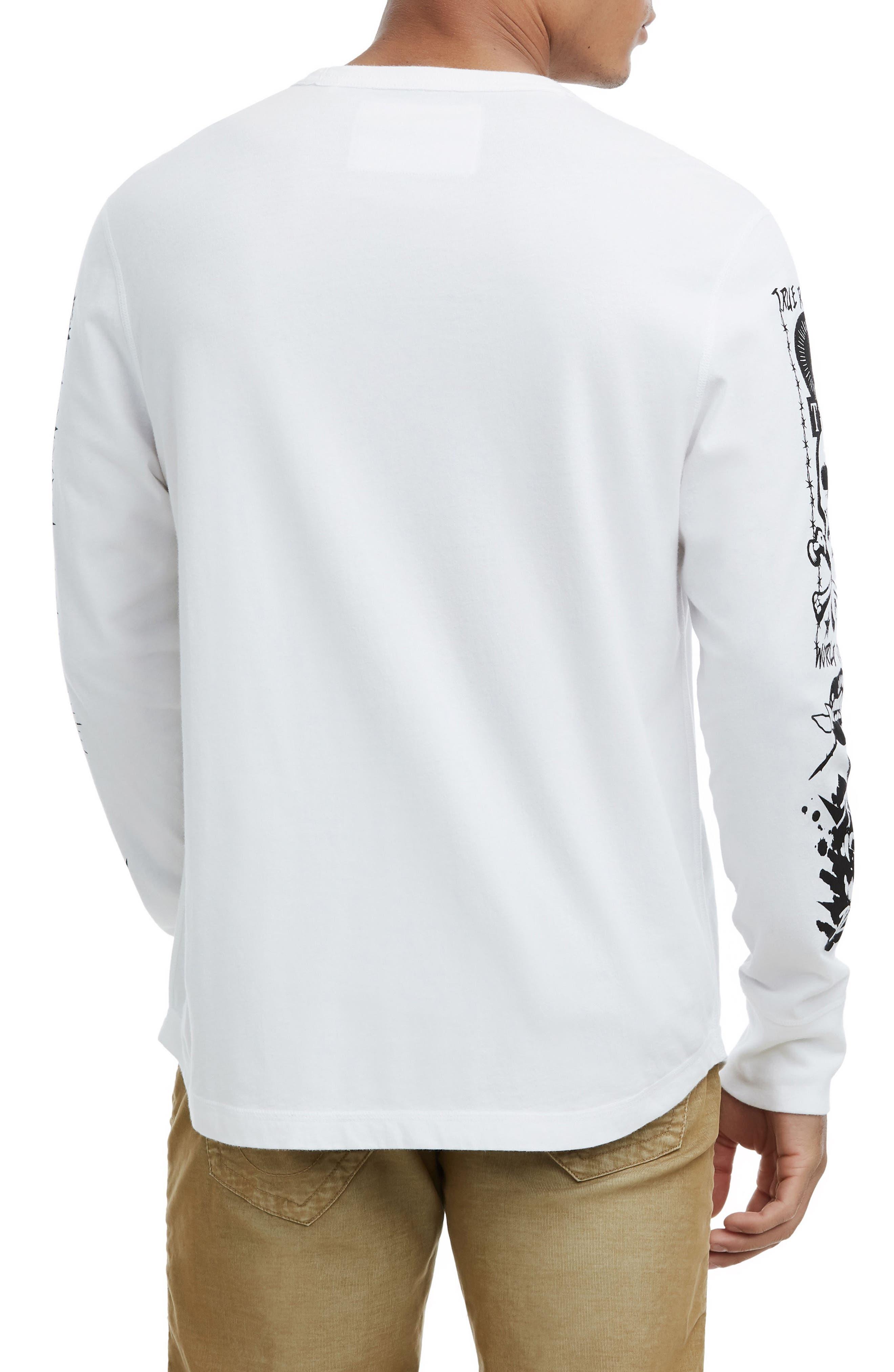 Long Sleeve Graphic T-Shirt,                             Alternate thumbnail 2, color,                             100