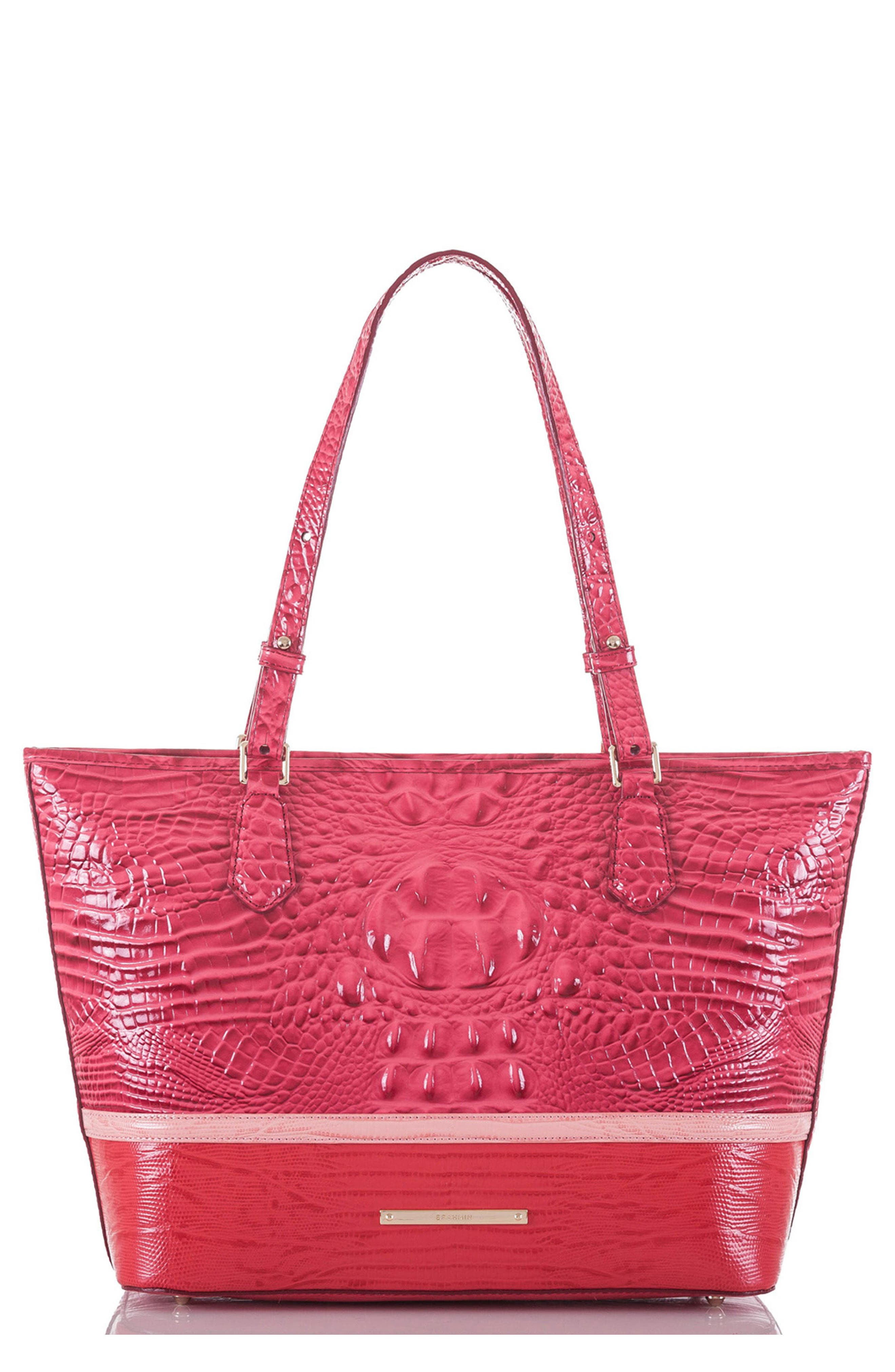Medium Asher Embossed Leather Tote,                             Main thumbnail 1, color,                             650