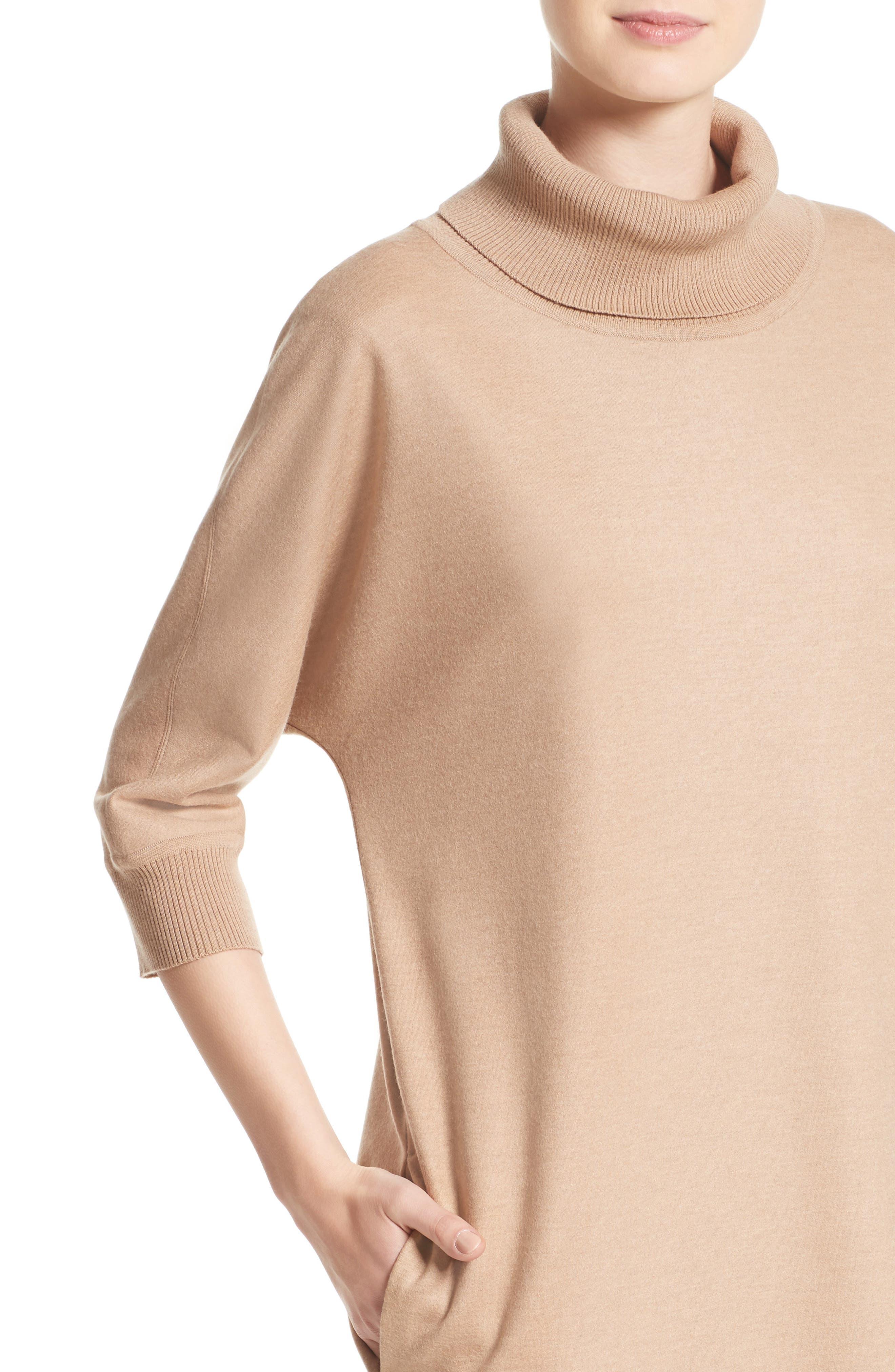 Agro Wool Turtleneck Dress,                             Alternate thumbnail 4, color,                             232