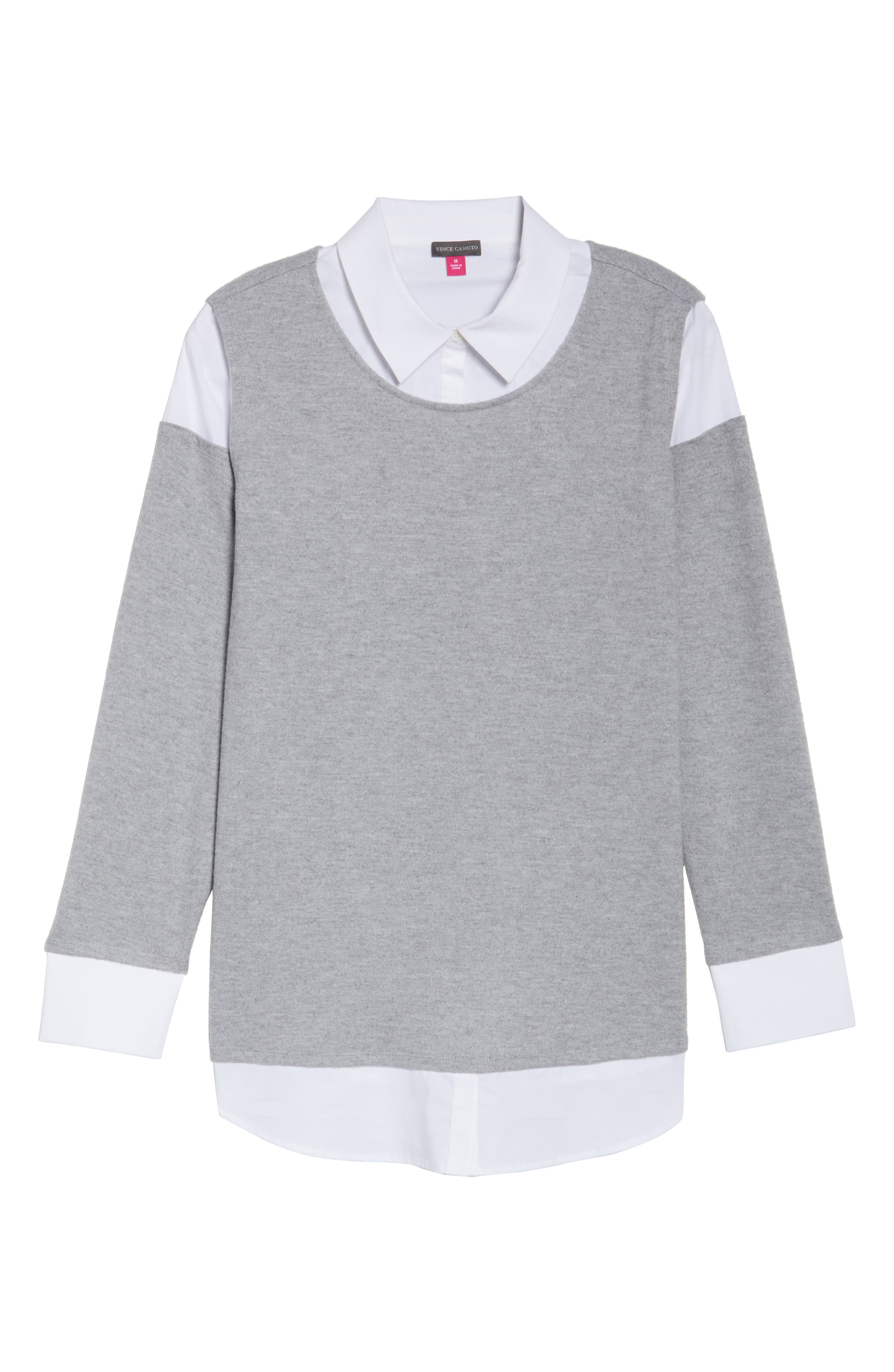 Mix Media Brushed Jersey Top,                             Alternate thumbnail 19, color,