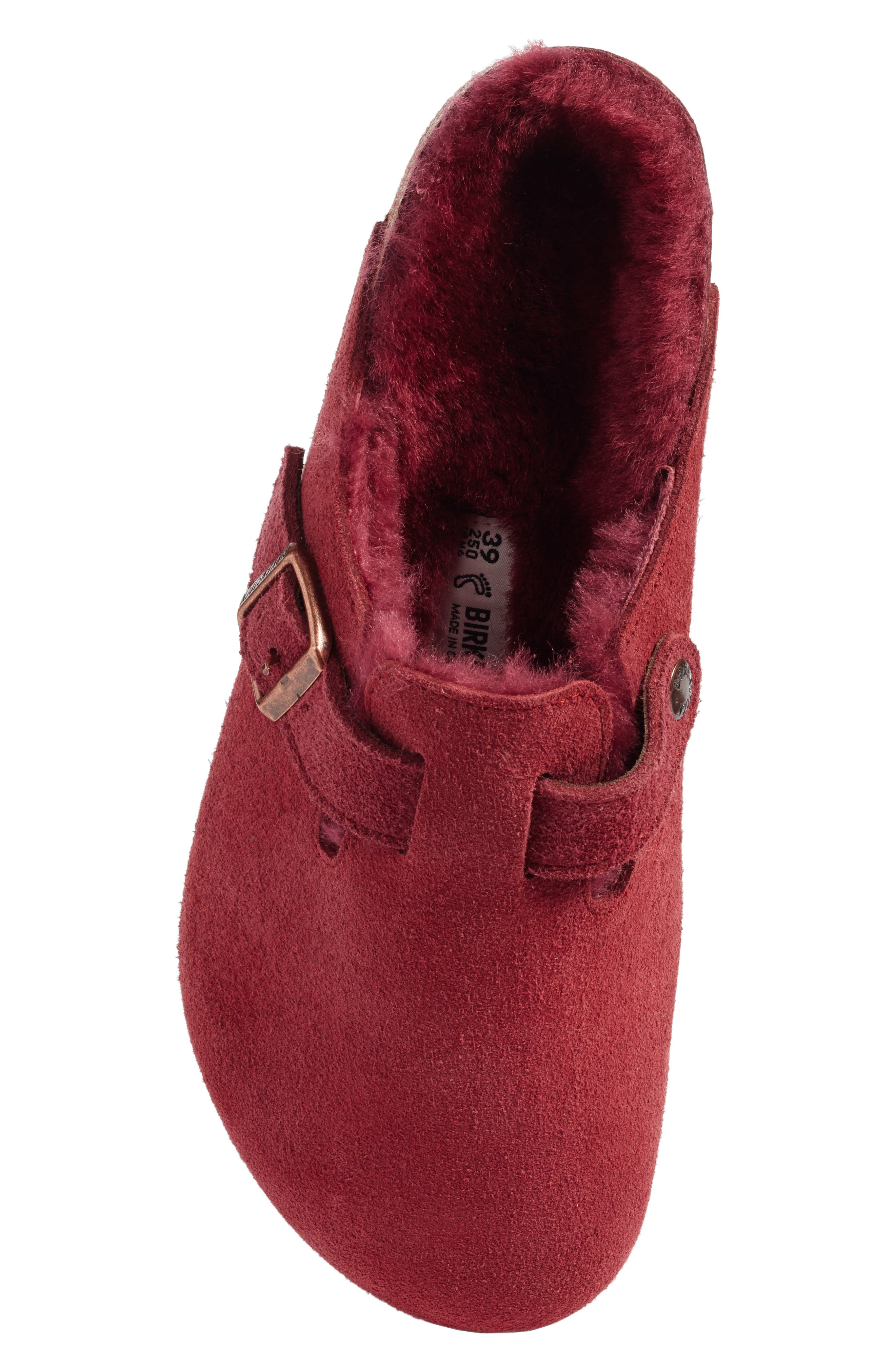 Boston Genuine Shearling Lined Clog,                             Alternate thumbnail 5, color,                             930