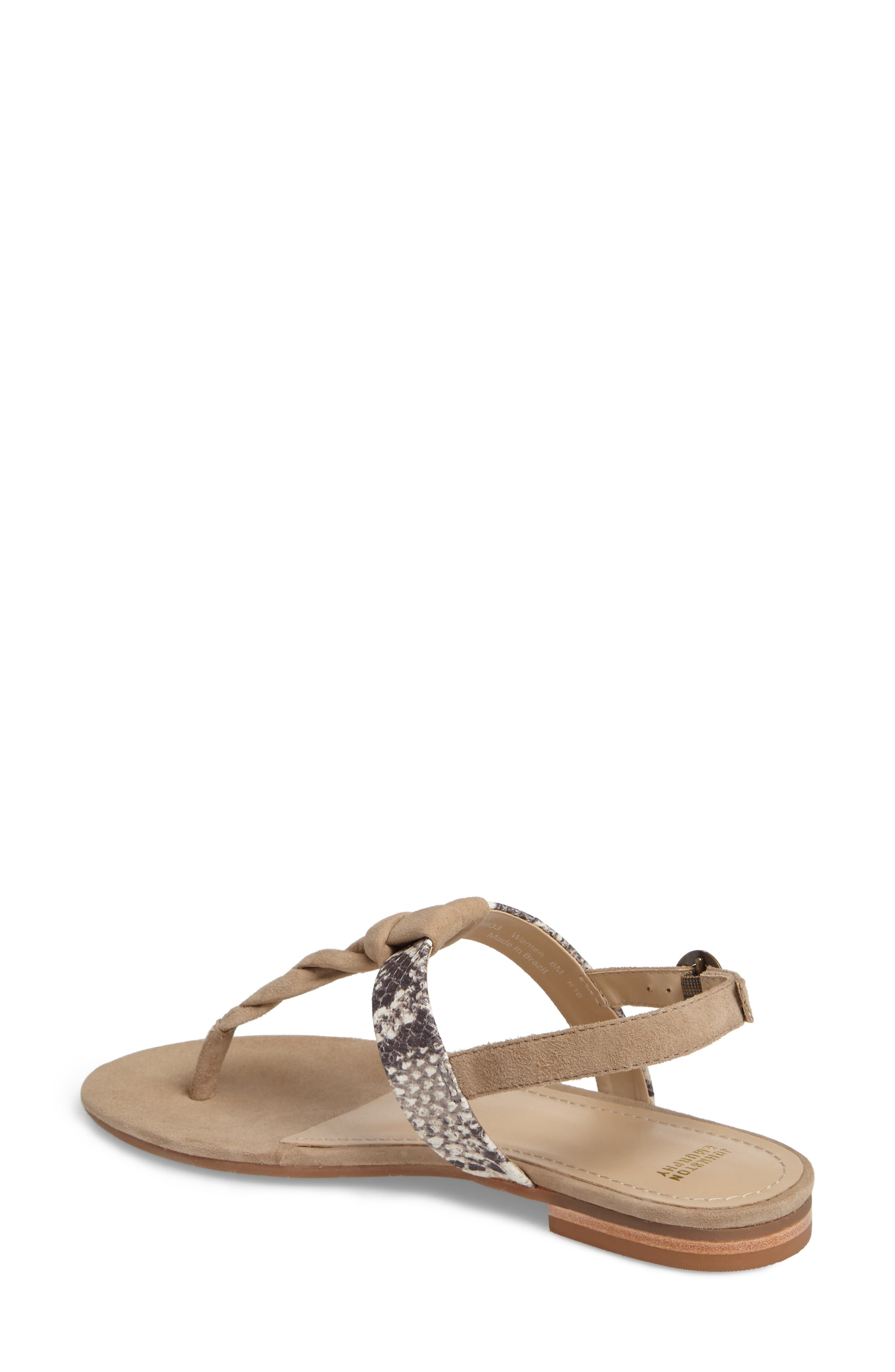 Holly Twisted T-Strap Sandal,                             Alternate thumbnail 8, color,