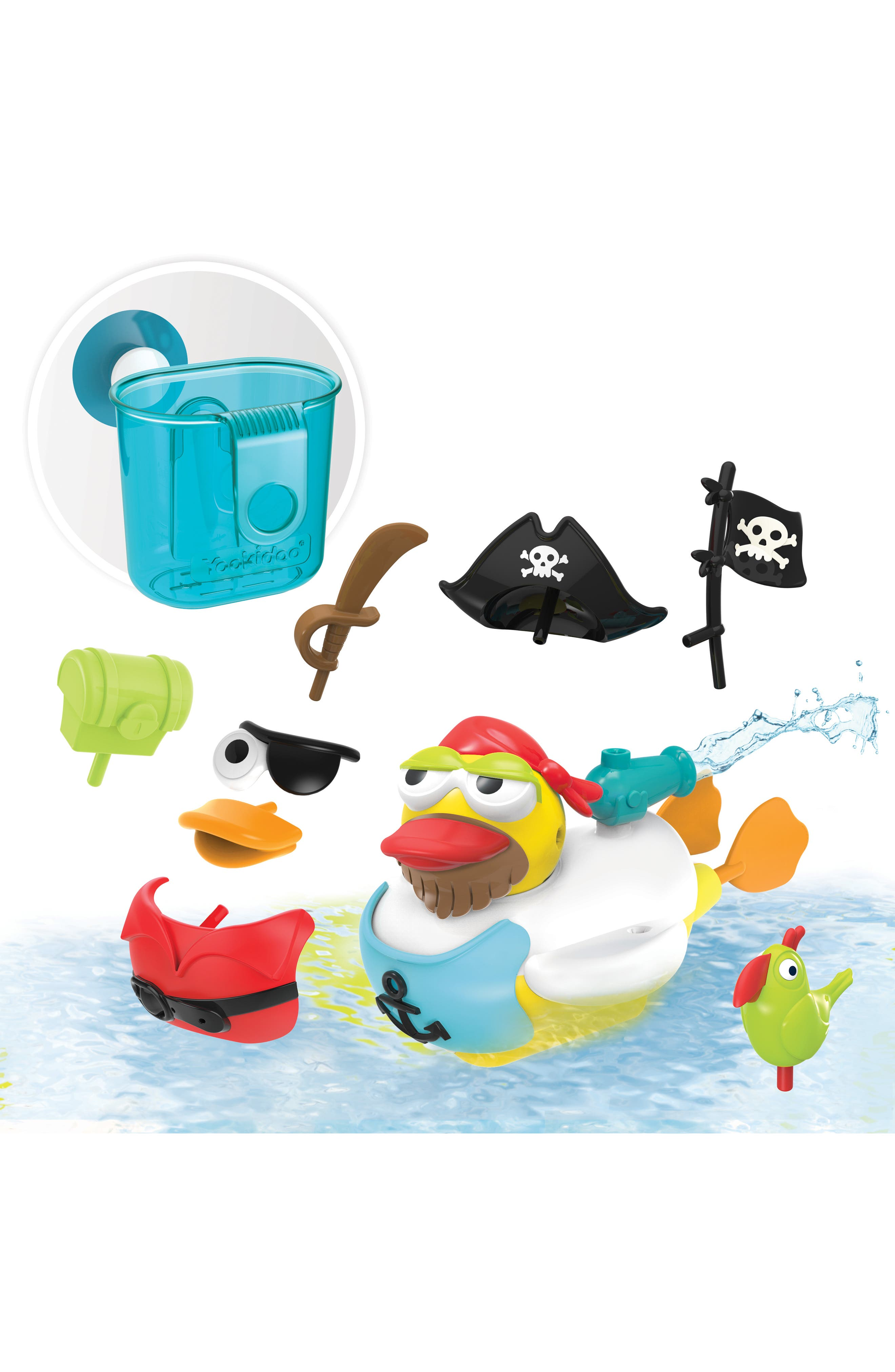 Jet Duck<sup>™</sup> Create a Pirate Bath Toy Kit,                             Alternate thumbnail 4, color,                             YELLOW