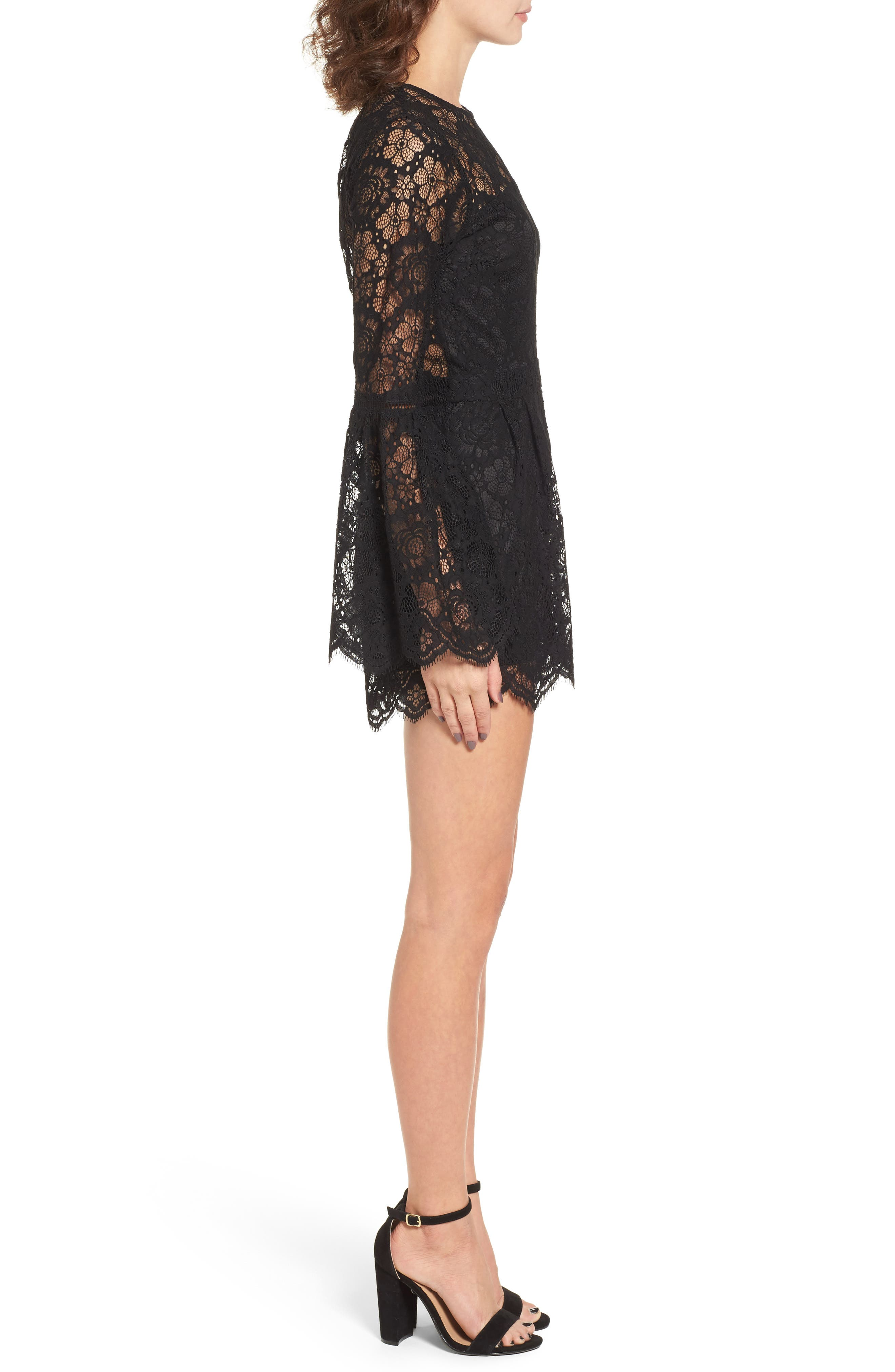 Gabrielle Lace Romper,                             Alternate thumbnail 3, color,