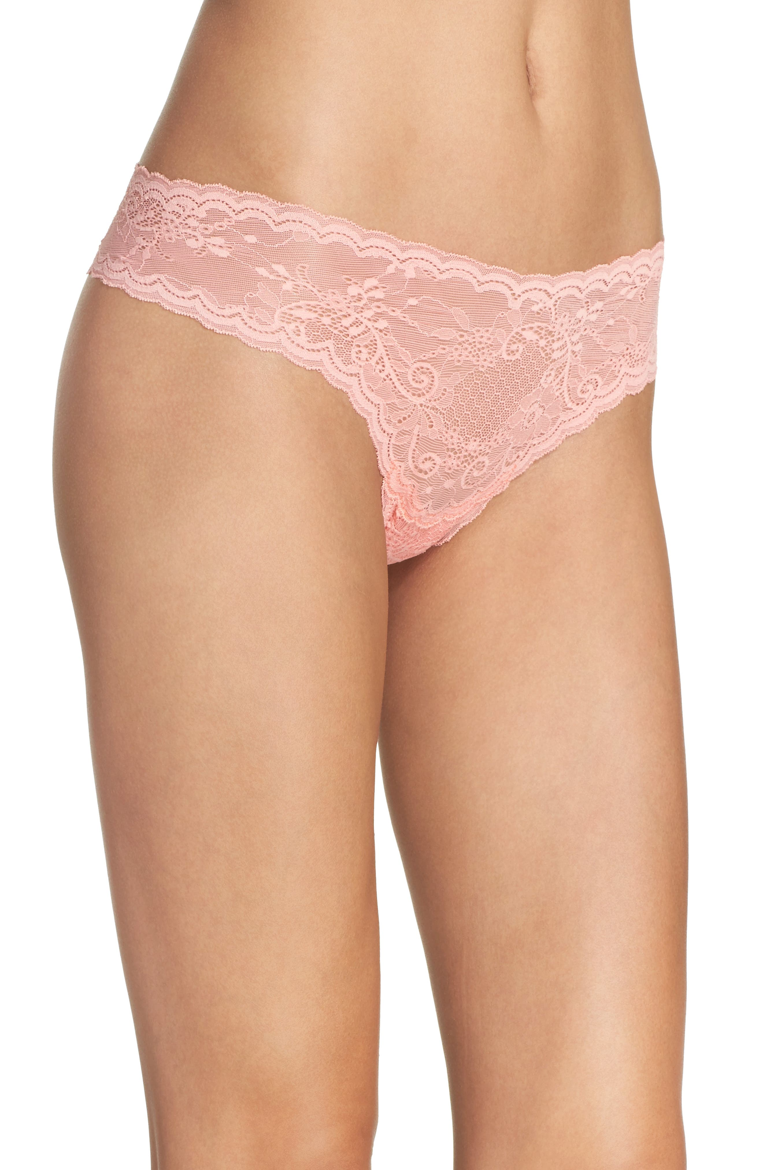 'Trenta' Low Rise Lace Thong,                             Alternate thumbnail 109, color,