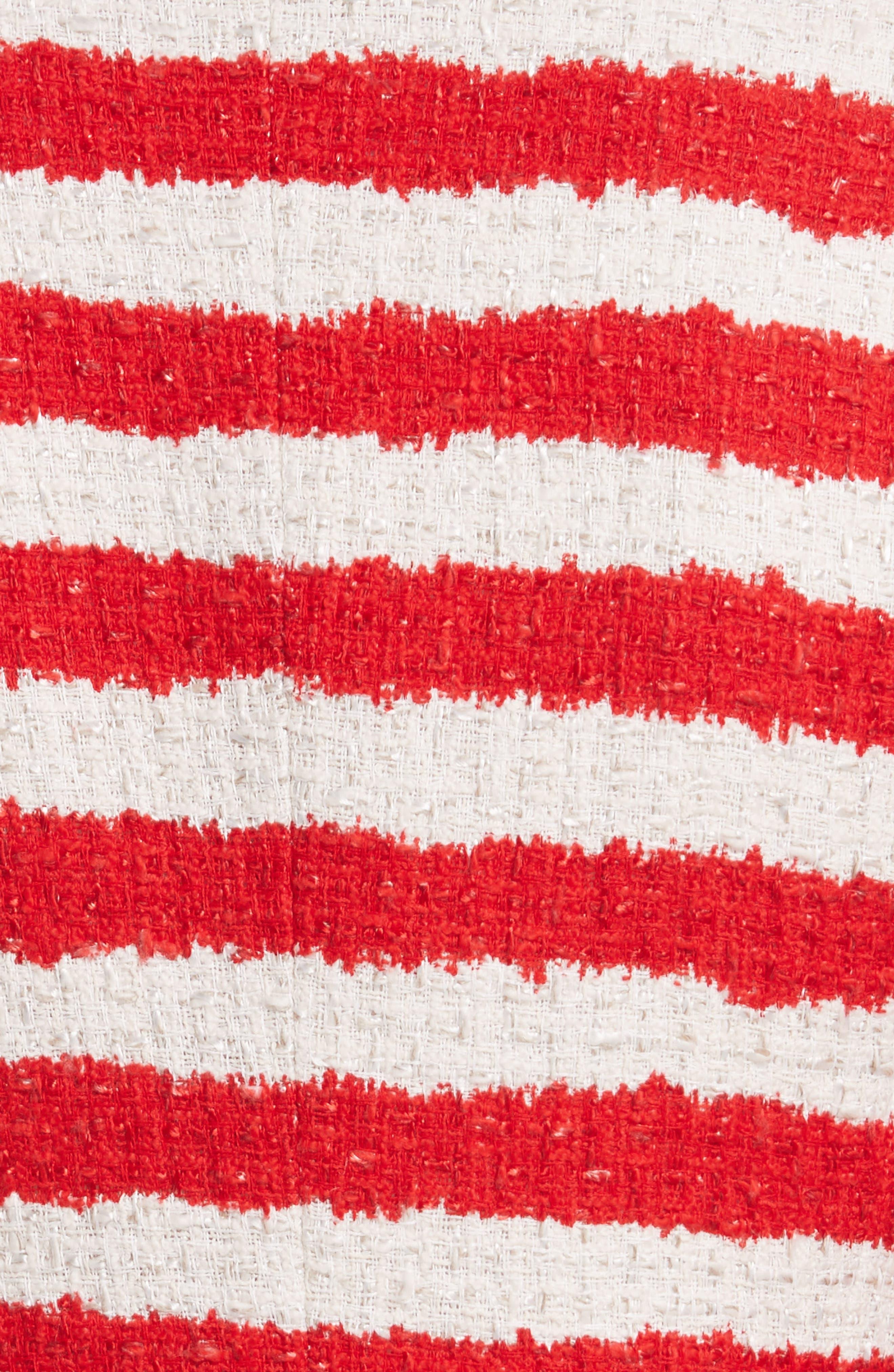 Stanton Stripe Tweed Jacket,                             Alternate thumbnail 6, color,