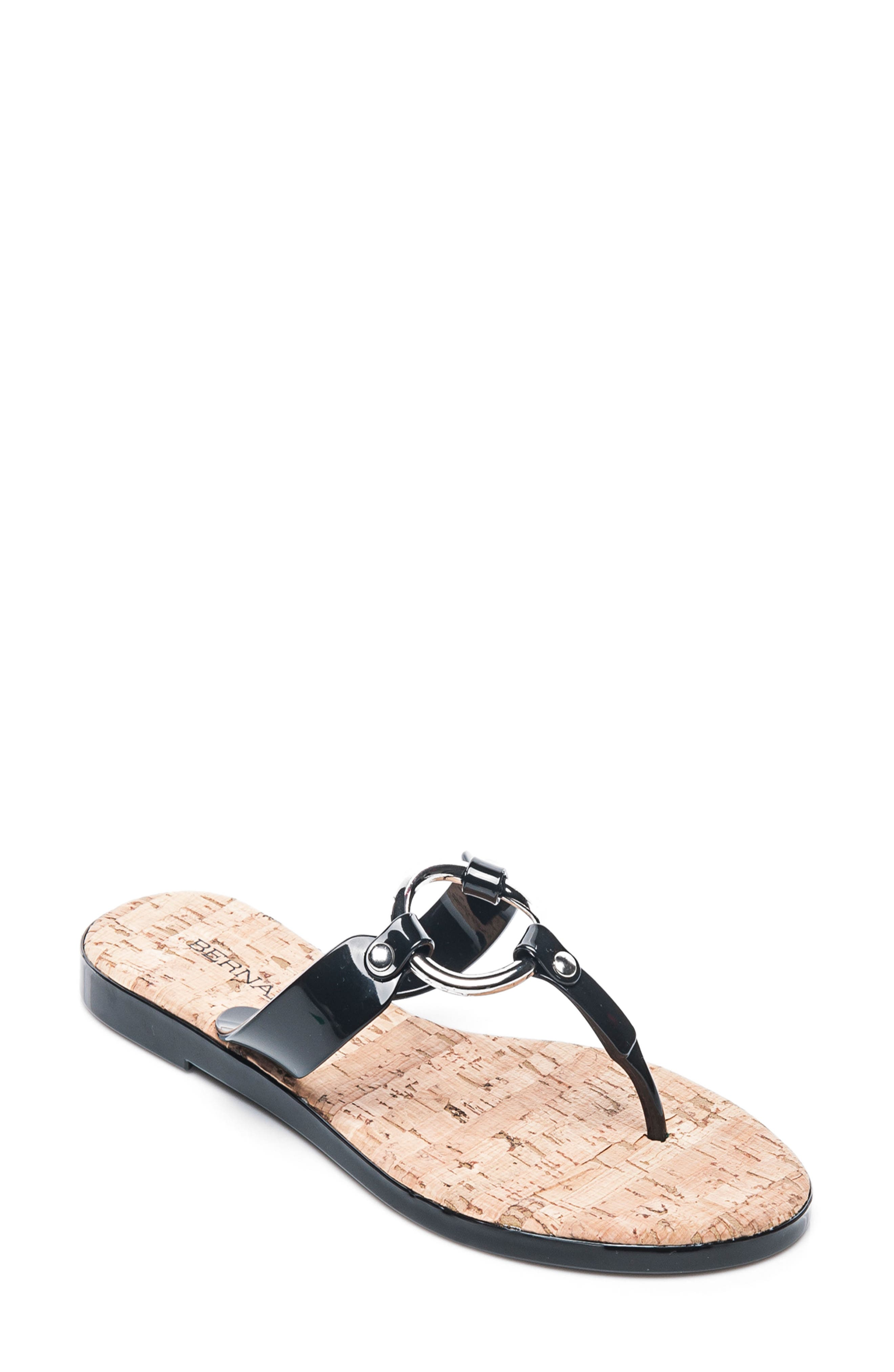 BERNARDO FOOTWEAR,                             Matrix Flip Flop,                             Main thumbnail 1, color,                             001
