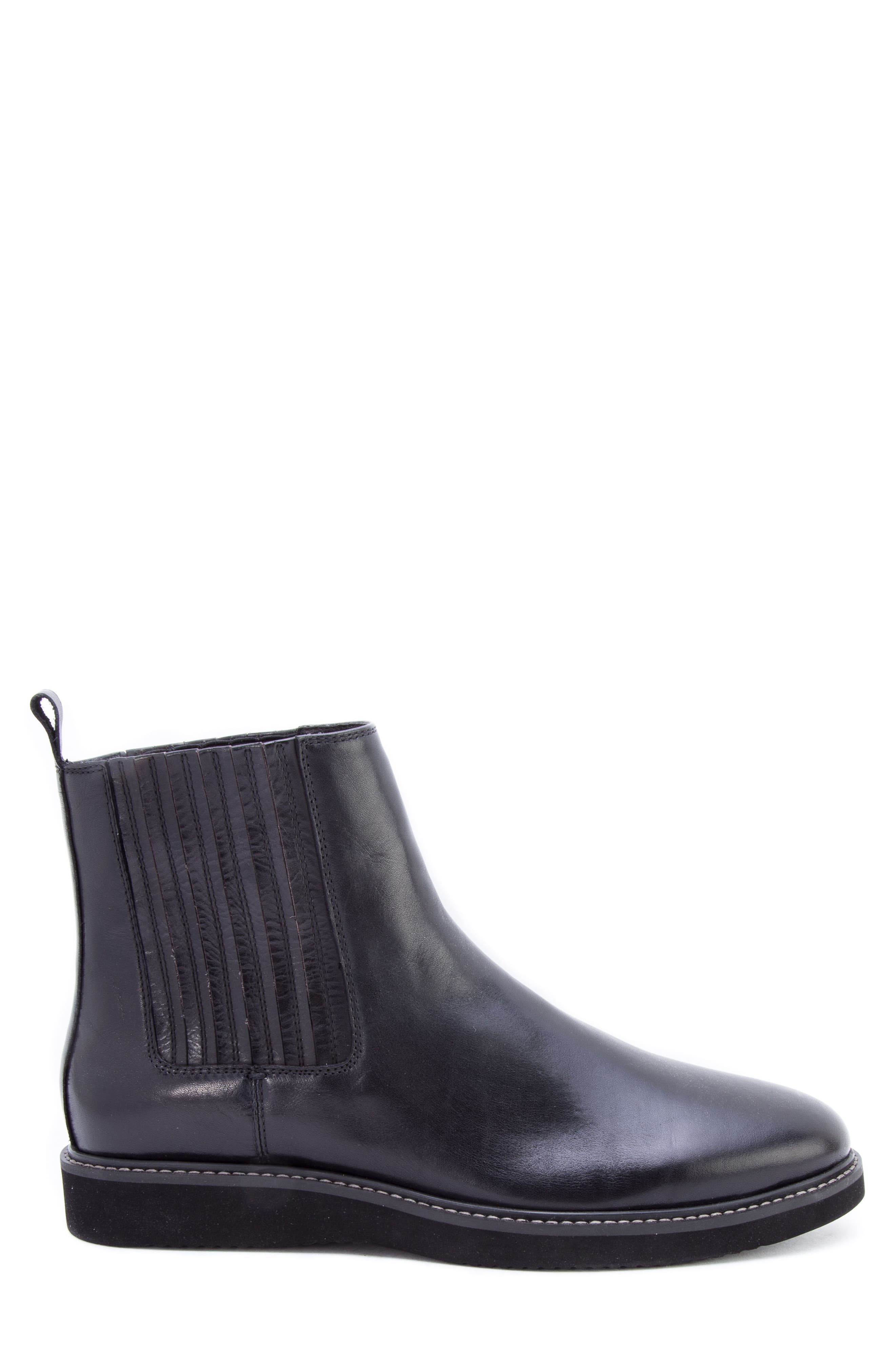 Warlow Chelsea Boot,                             Alternate thumbnail 3, color,                             BLACK LEATHER