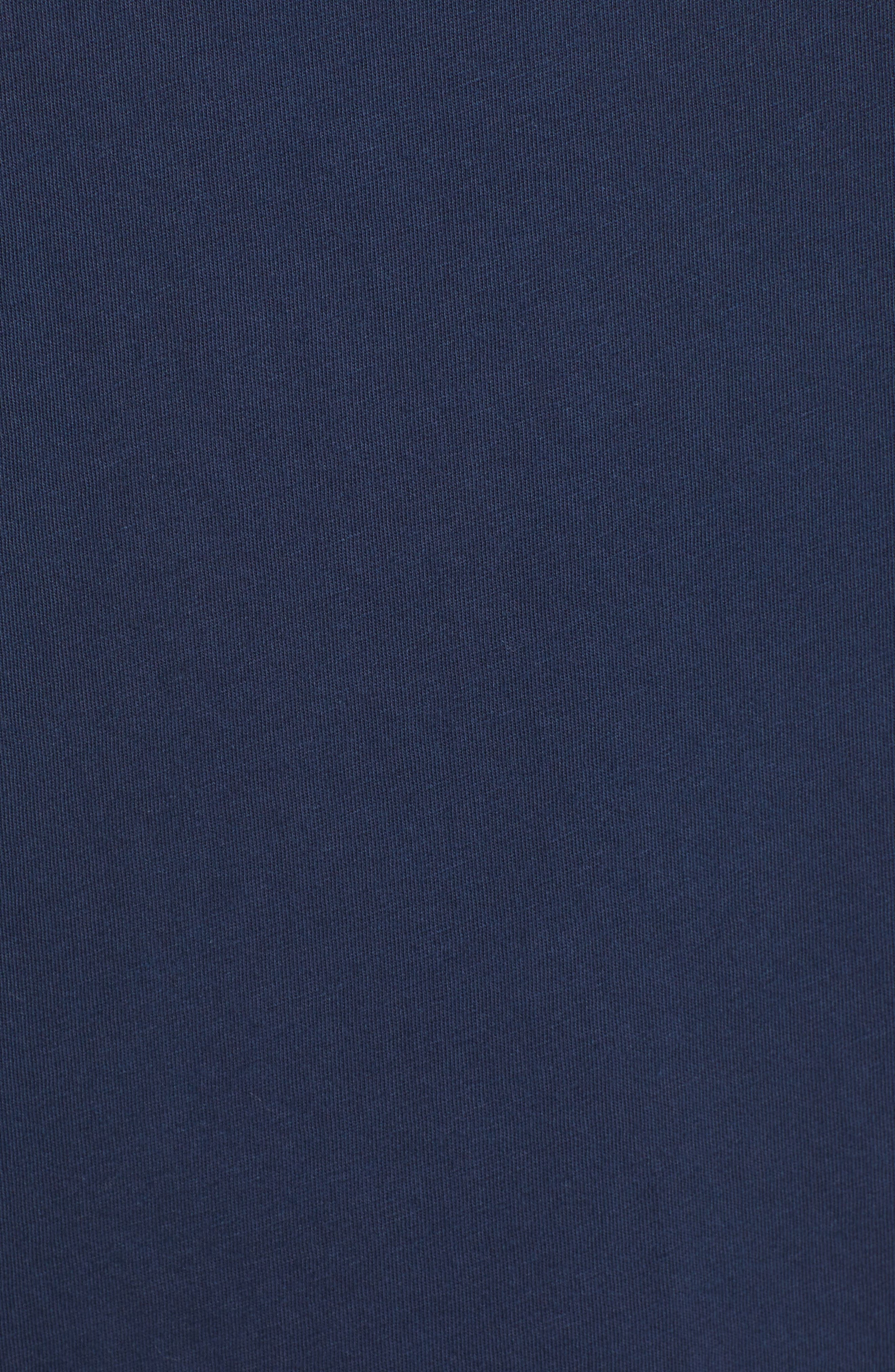 The Boxy Goodie Goodie Supima<sup>®</sup> Cotton Tee,                             Alternate thumbnail 6, color,                             NAVY