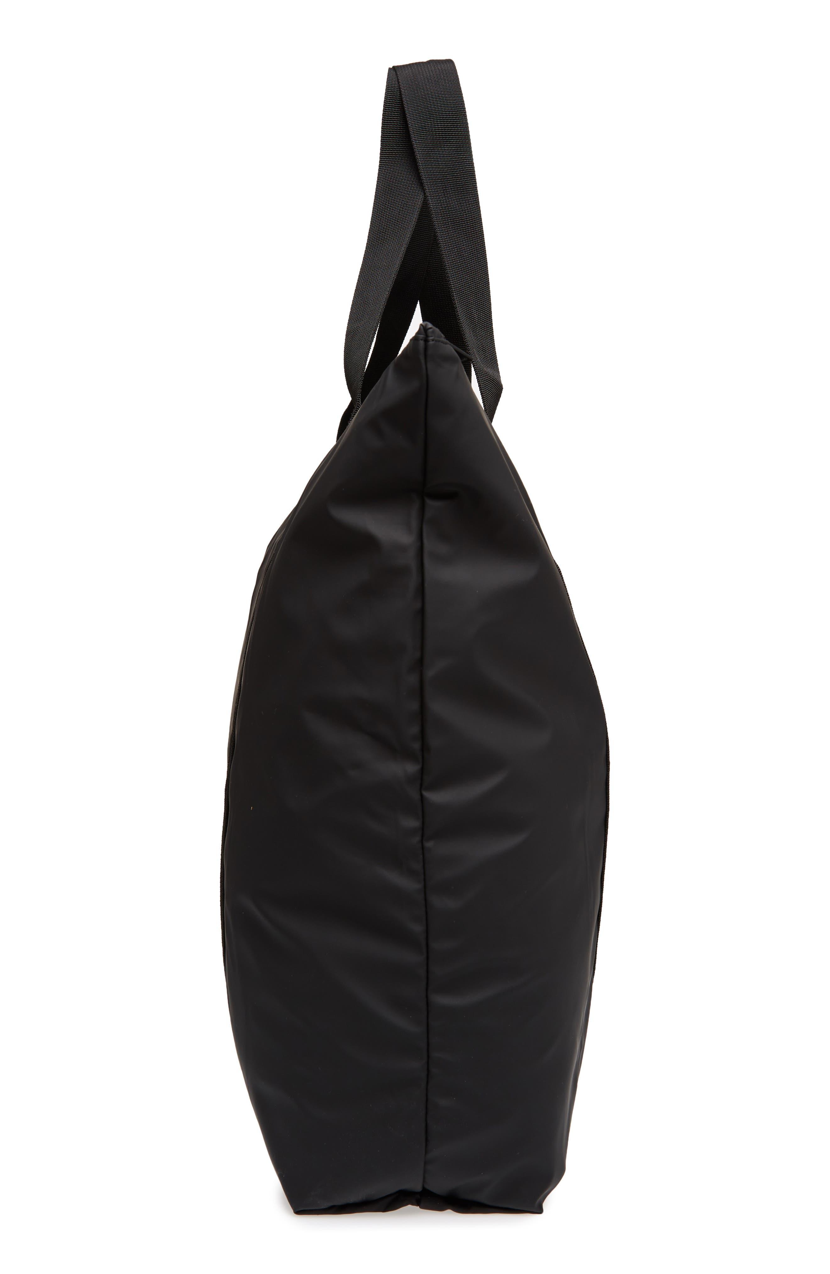 Waterproof Tote Bag,                             Alternate thumbnail 5, color,                             BLACK