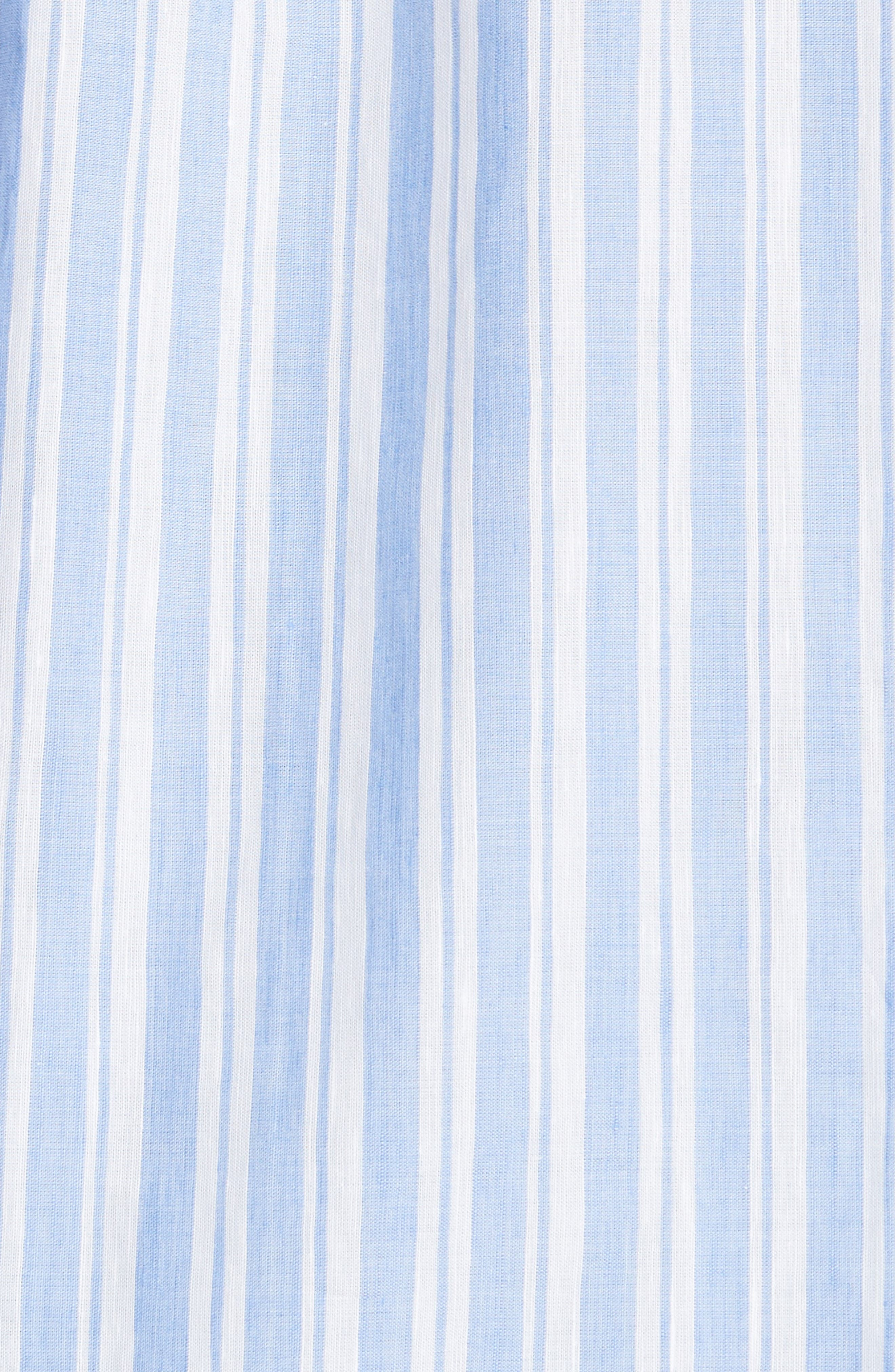 Oversized Stripe Chambray Shirt,                             Alternate thumbnail 5, color,                             460