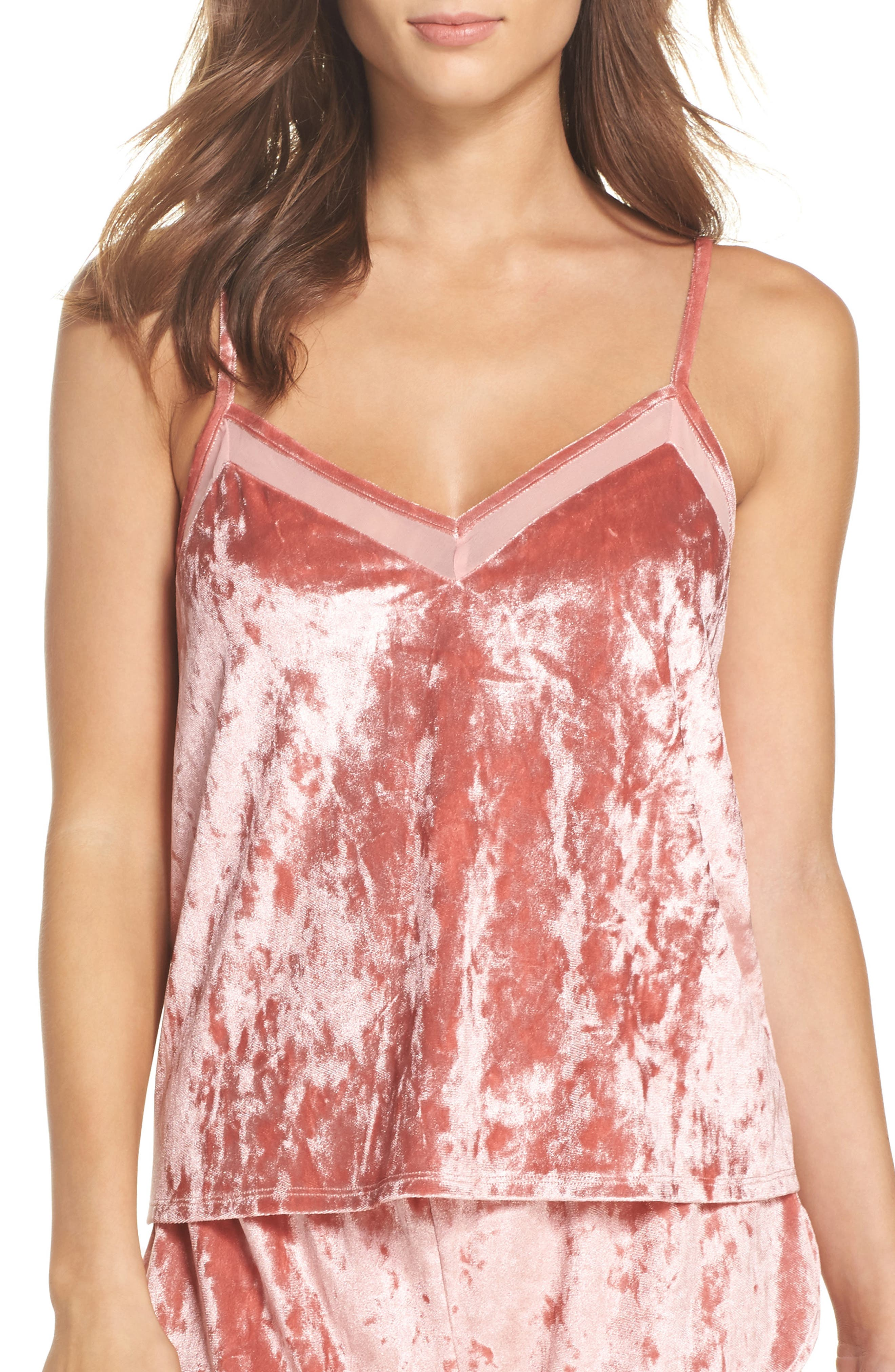 Starry Night Velvet Camisole,                             Main thumbnail 2, color,