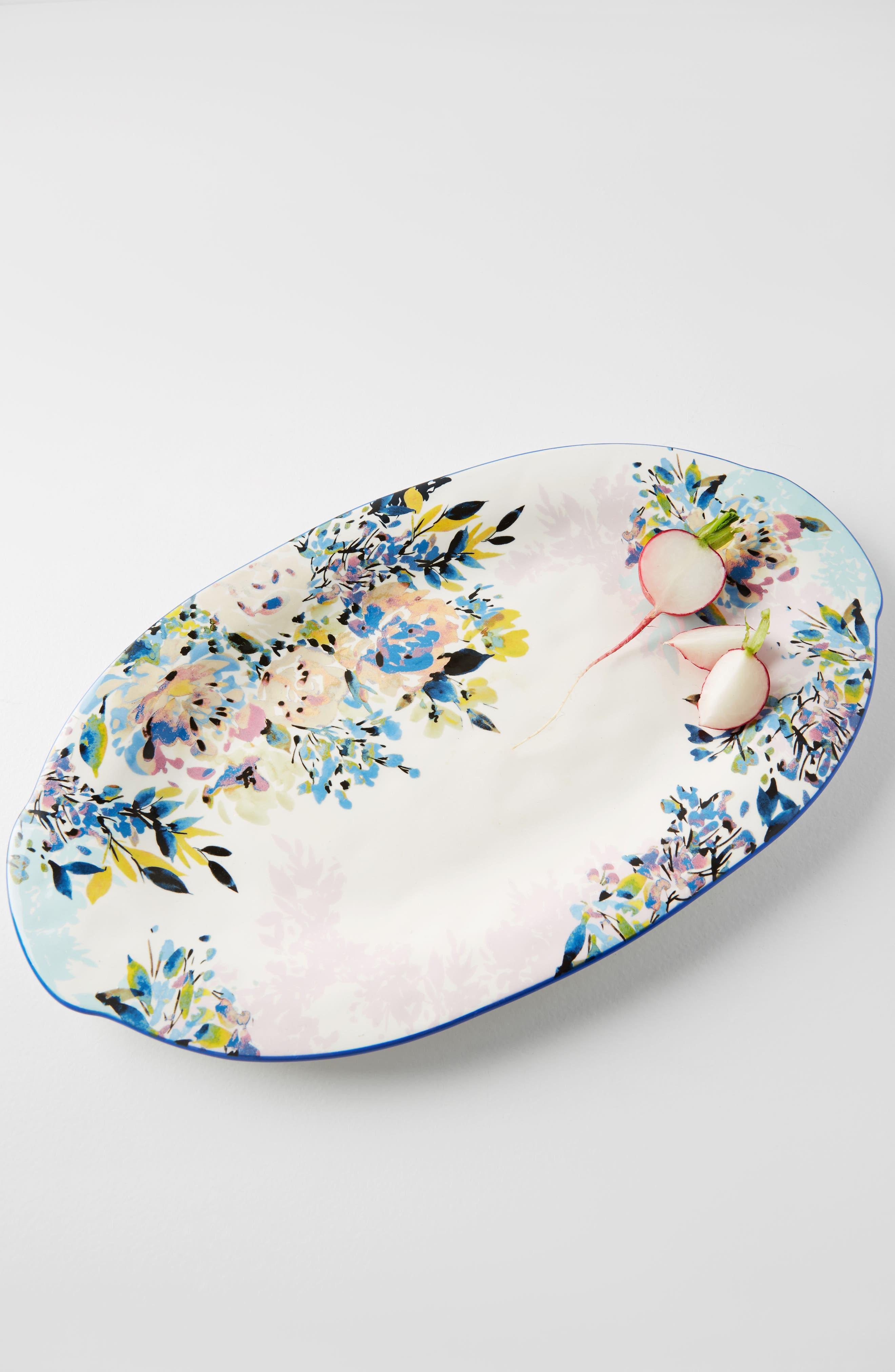 Gardenshire Earthenware Platter,                             Alternate thumbnail 3, color,                             400